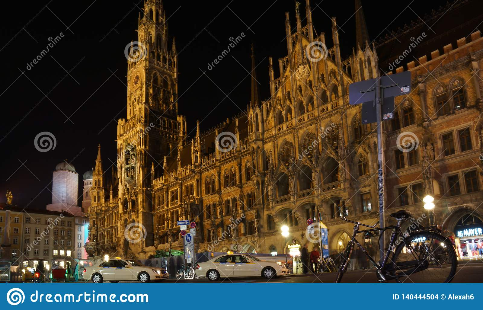 Munich Marienplatz Bavaria New town hall night