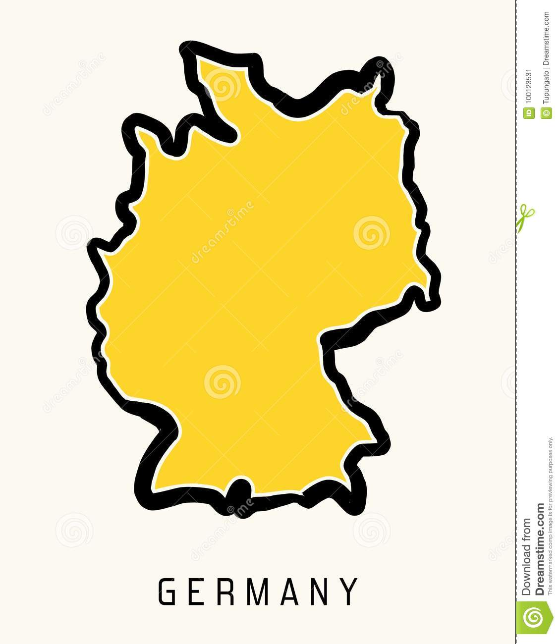 Simple Map Of Germany.Germany Vector Map Stock Vector Illustration Of Handwritten 100123531