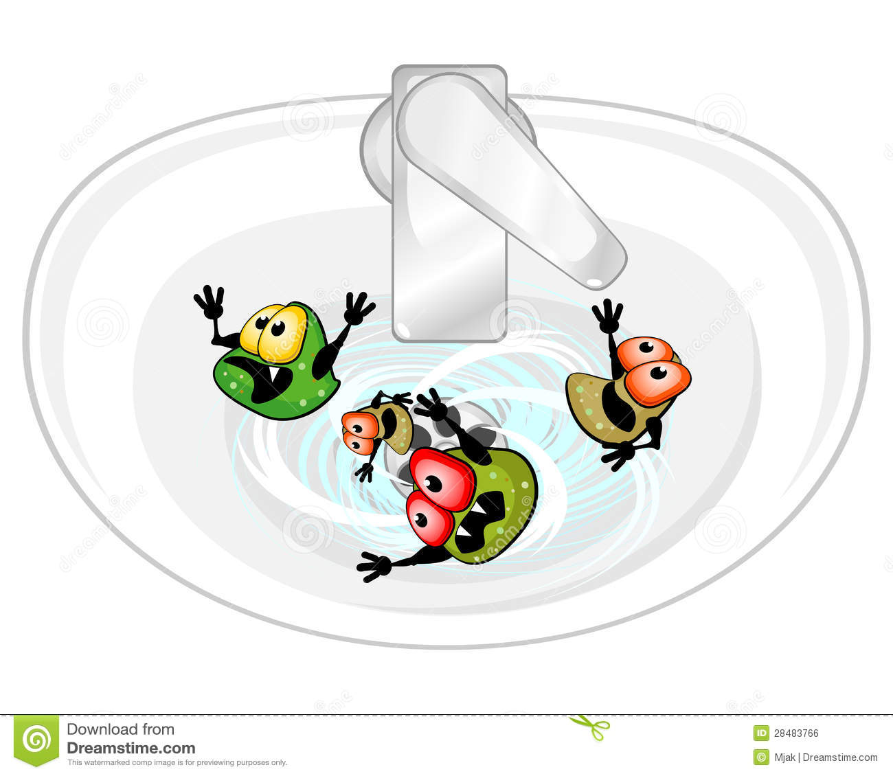 Germs In Sink Royalty Free Stock Image Image 28483766