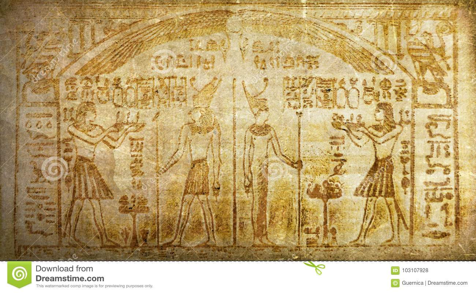 Geroglifici egiziani antichi d annata di storia di lerciume
