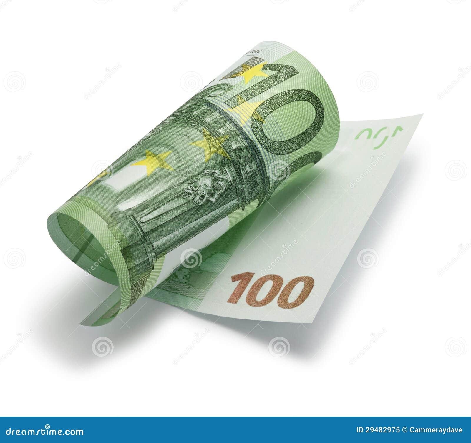 Gerollt hundert euro anmerkung stockbild bild 29482975 for Ohrensessel 100 euro