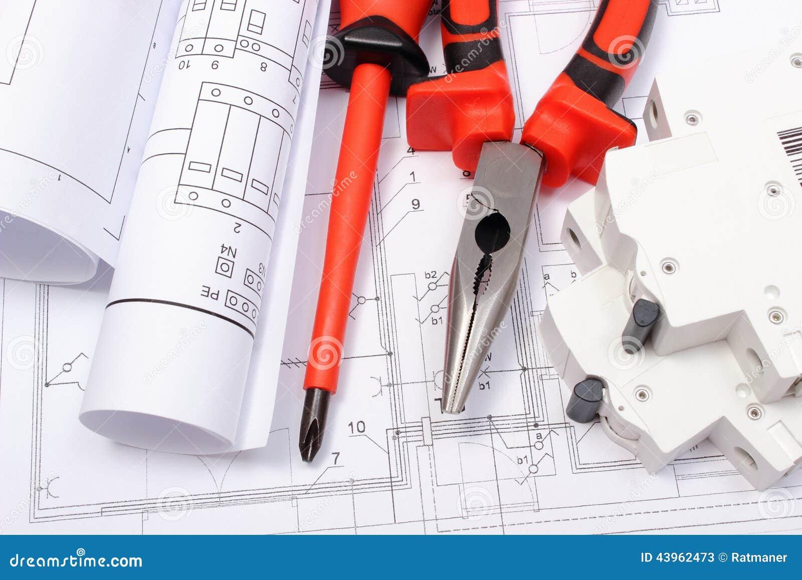 Gerollte Elektrische Diagramme, Elektrische Sicherung Und ...