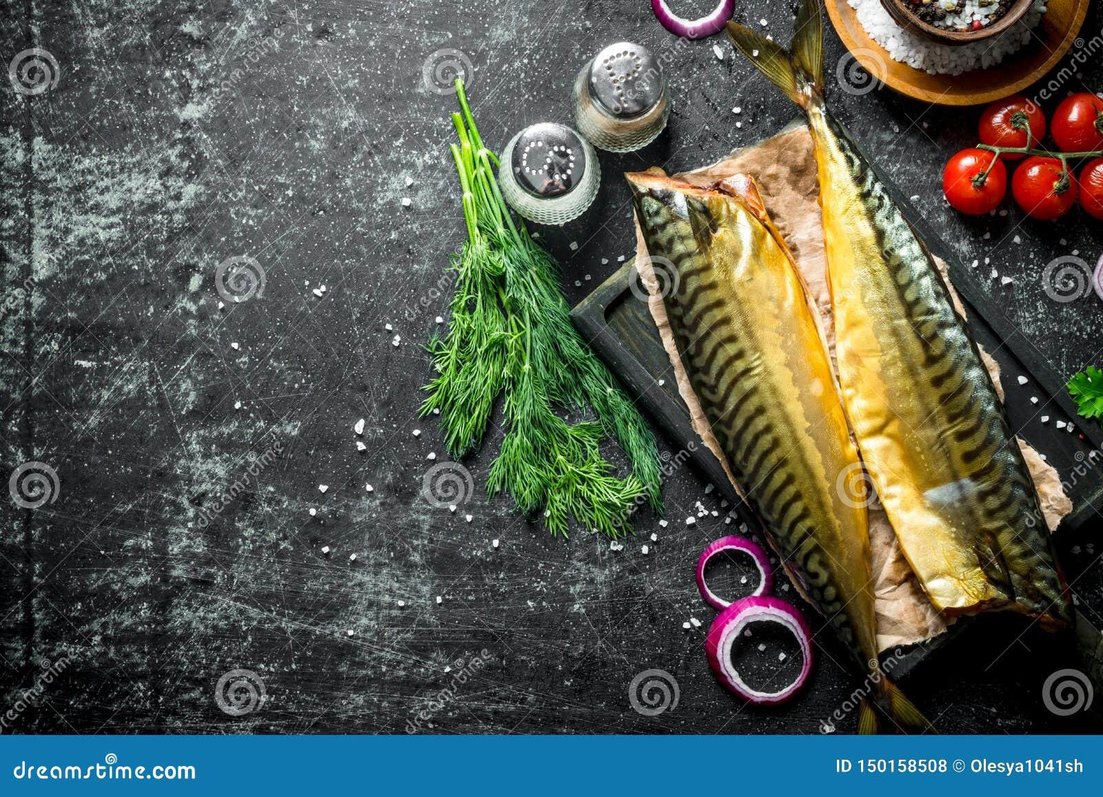 Gerookte makreel met kruiden en dille