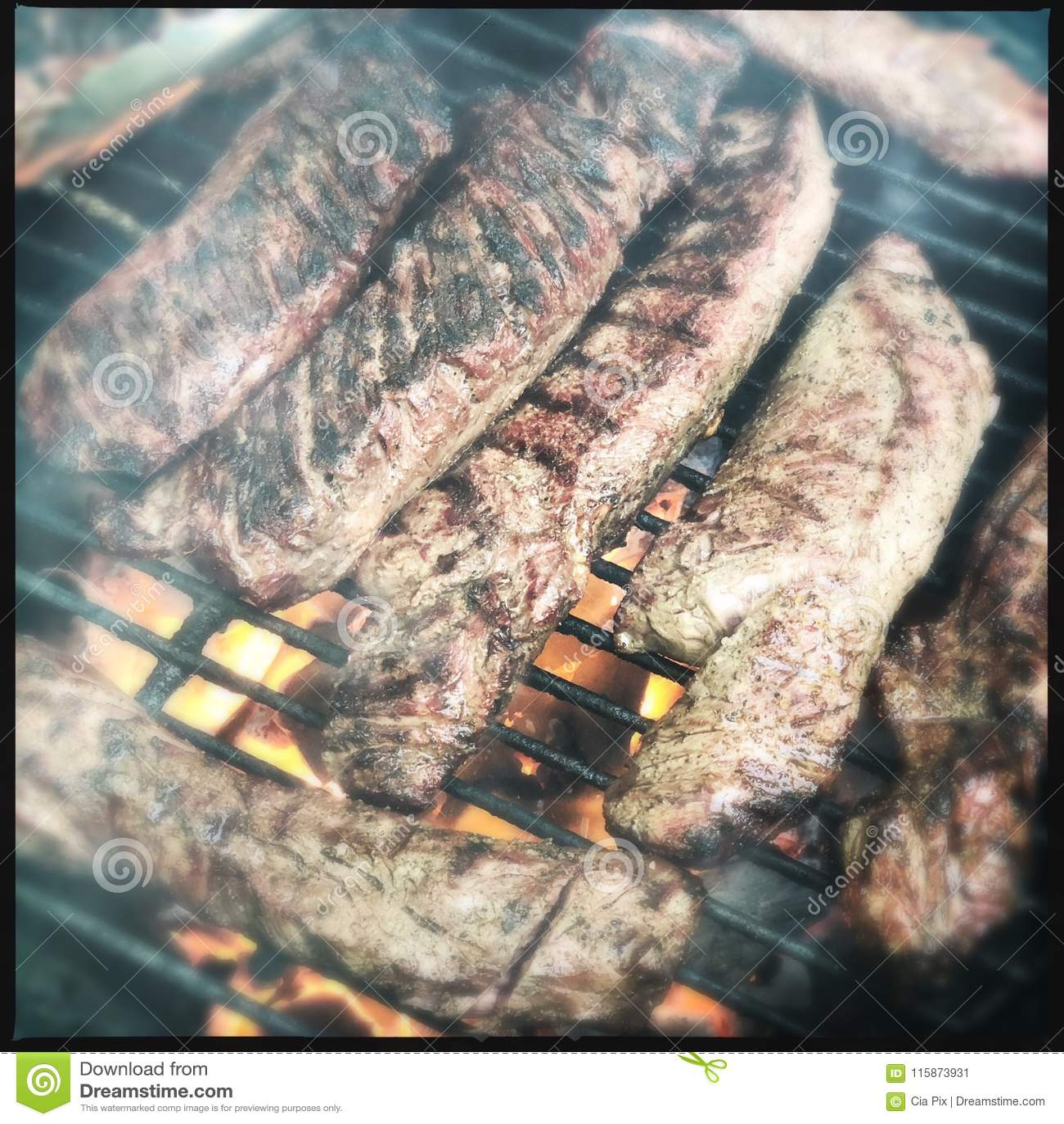 Geroosterd hangerlapje vlees