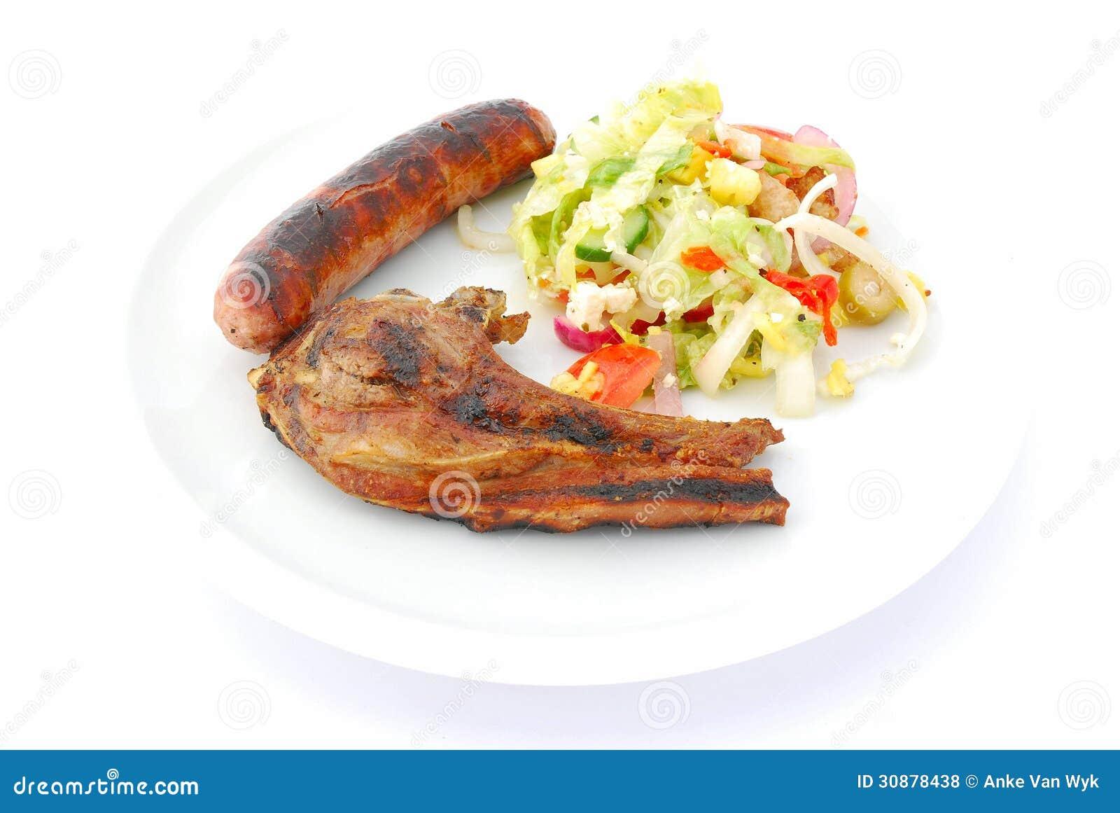 Geroosterd vlees met zijsalade