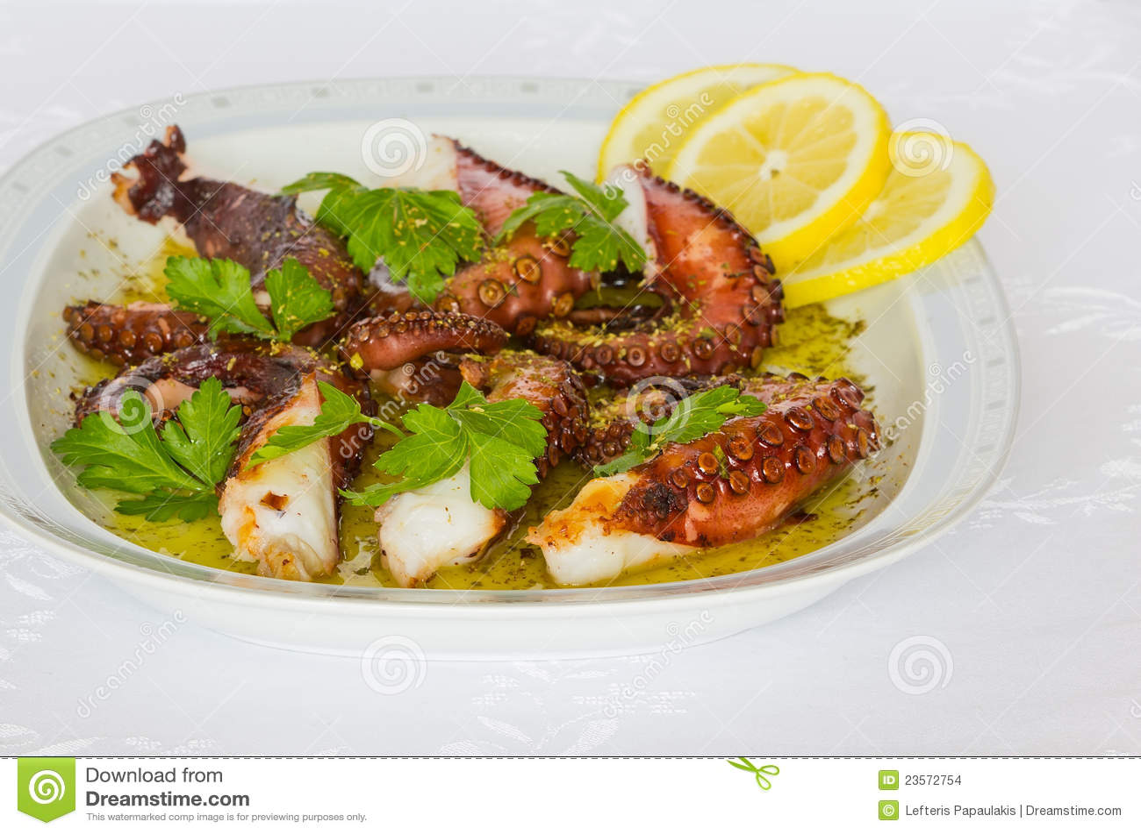 Geroosterde octopus