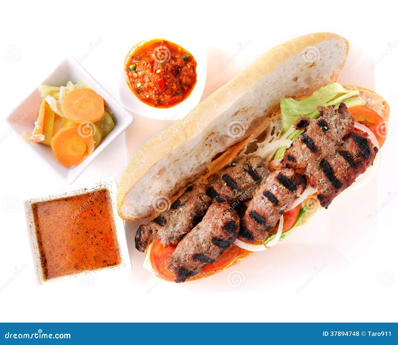Geroosterde rundvleessandwich