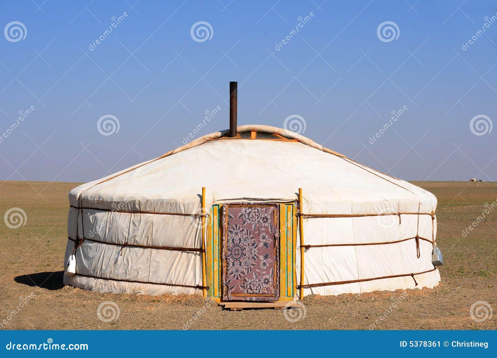 Gers蒙古游牧人yurt