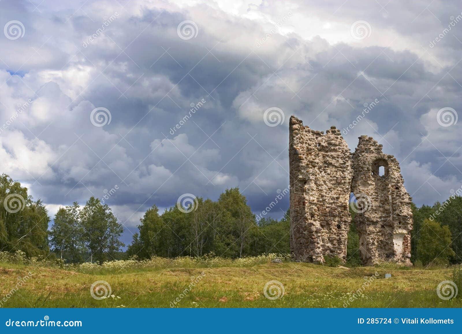 Geruïneerd kasteel