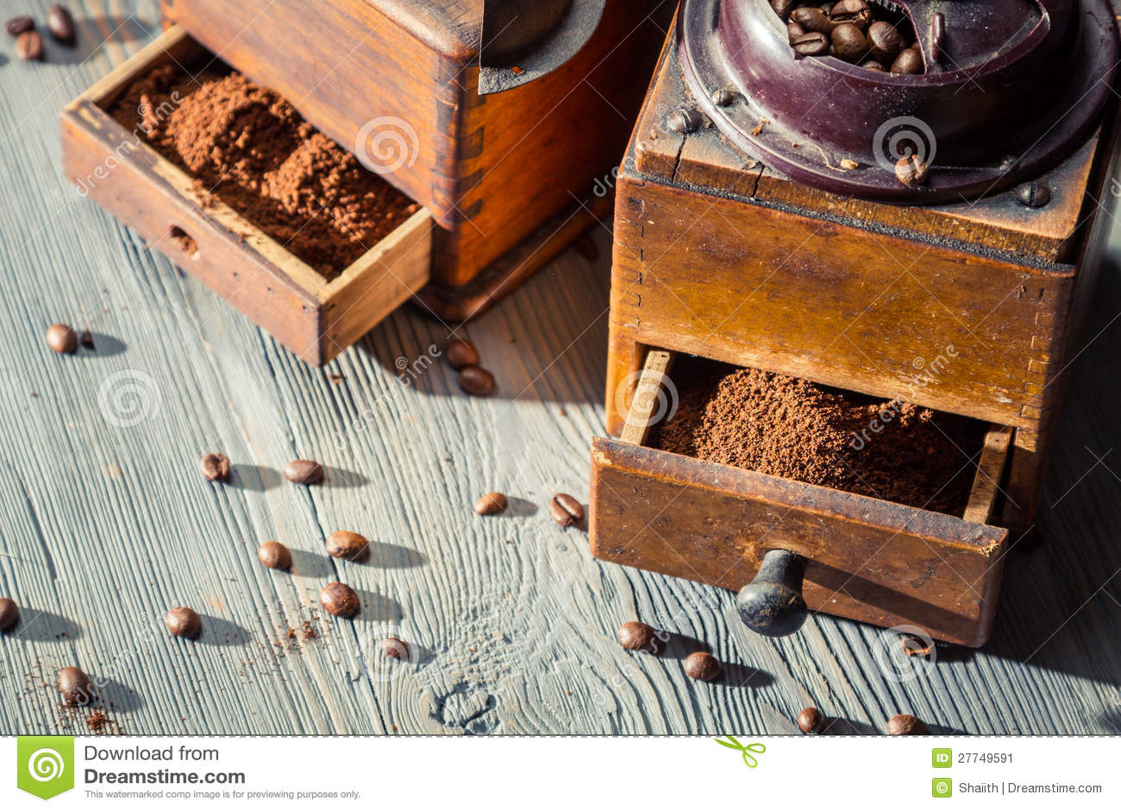 Geruch des frisch gemahlenen Kaffees