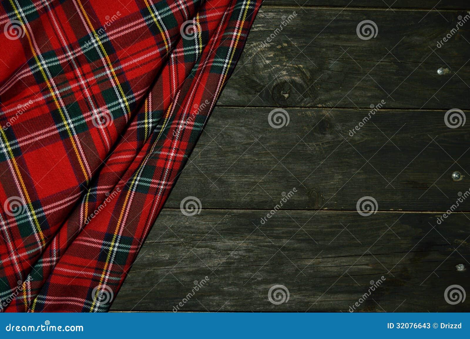 Geruit Schots wollen stof