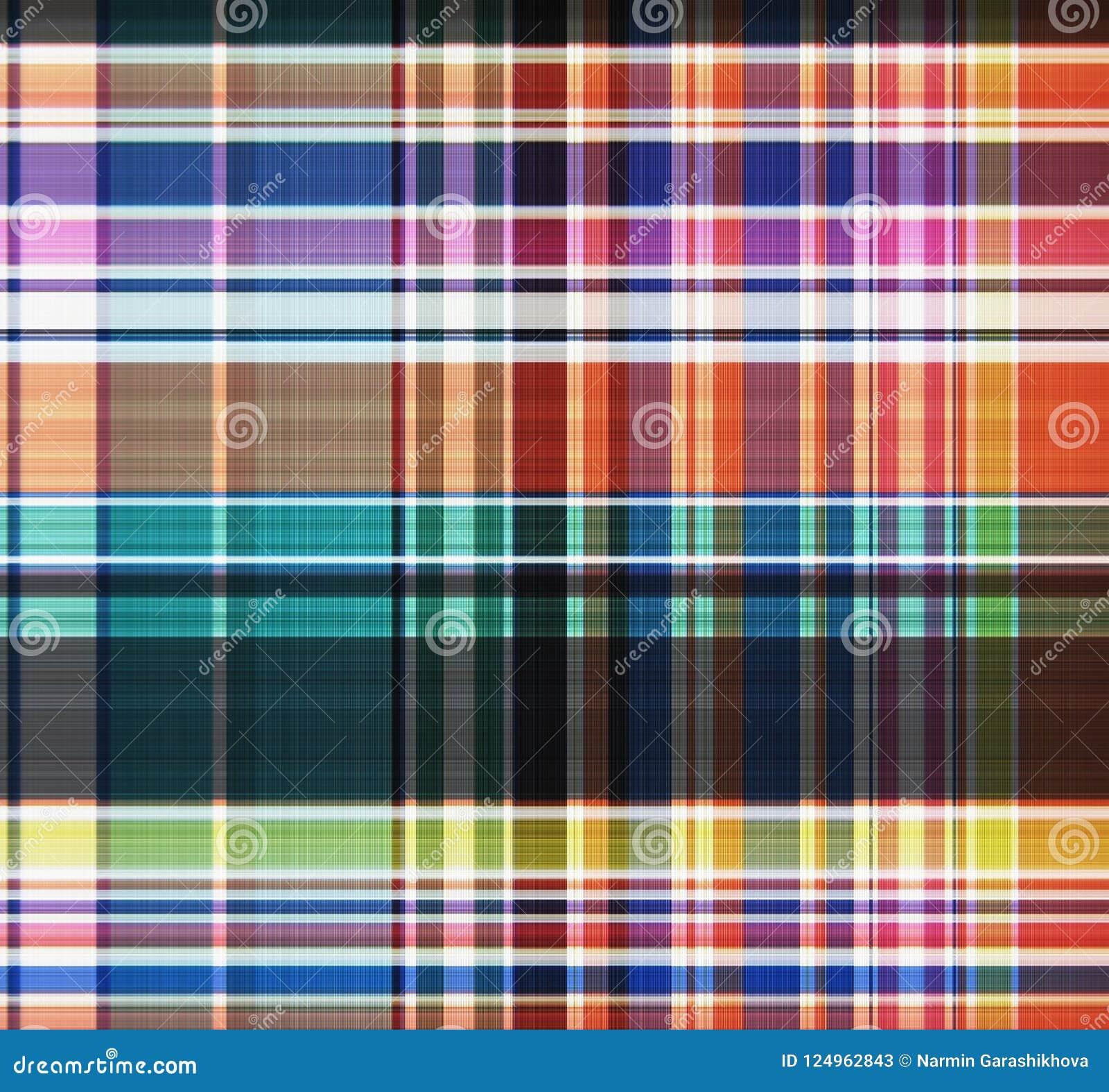 Geruit Schots wollen stof, plaid naadloos patroon Textielontwerp Het Behang van het kledingspatroon, verpakkend document, textiel
