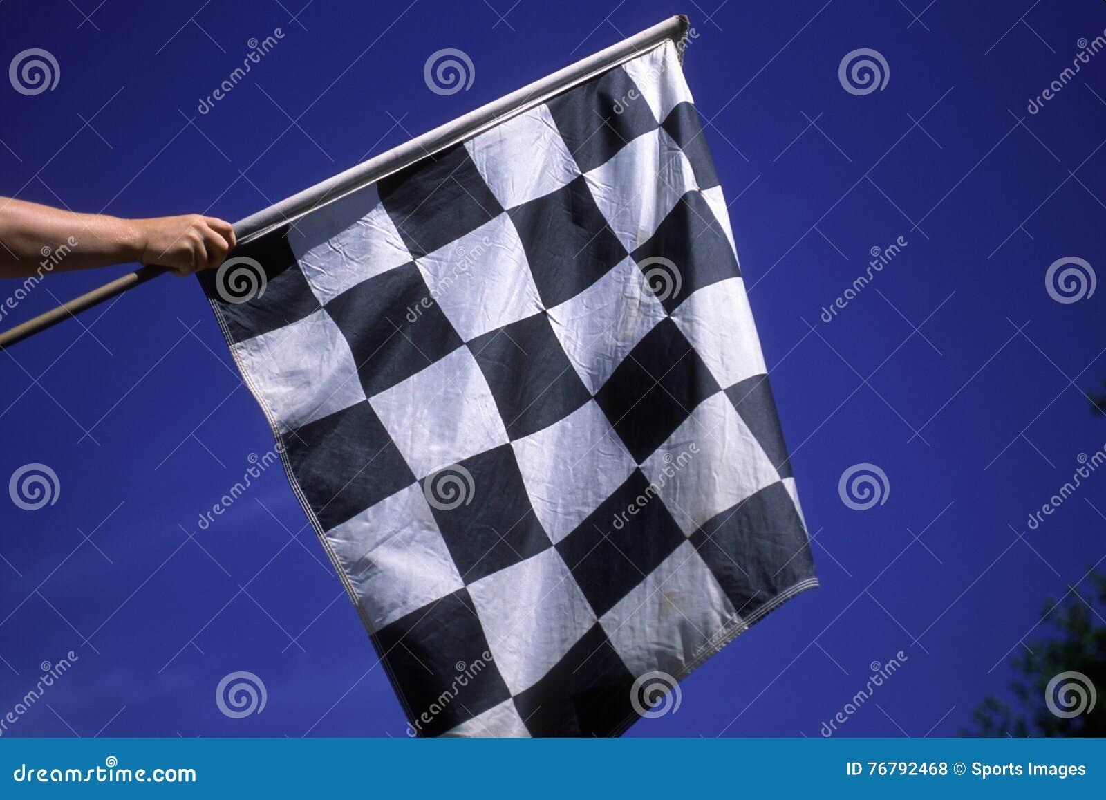 Geruite Vlag voor de Winnaar