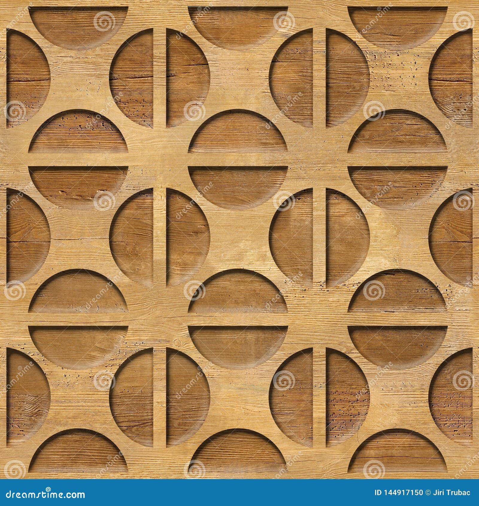 Gerundetes dekoratives Muster - Innenwanddekoration