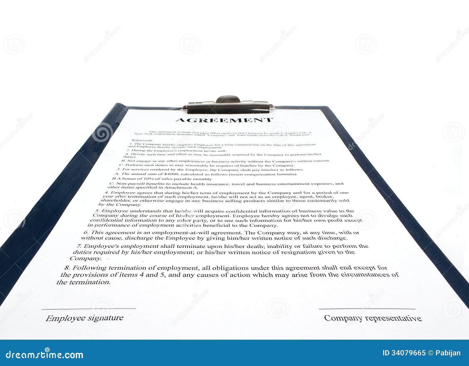 Gesang Den Vertrag Vereinbarung Stockbild Bild Von Vertrag