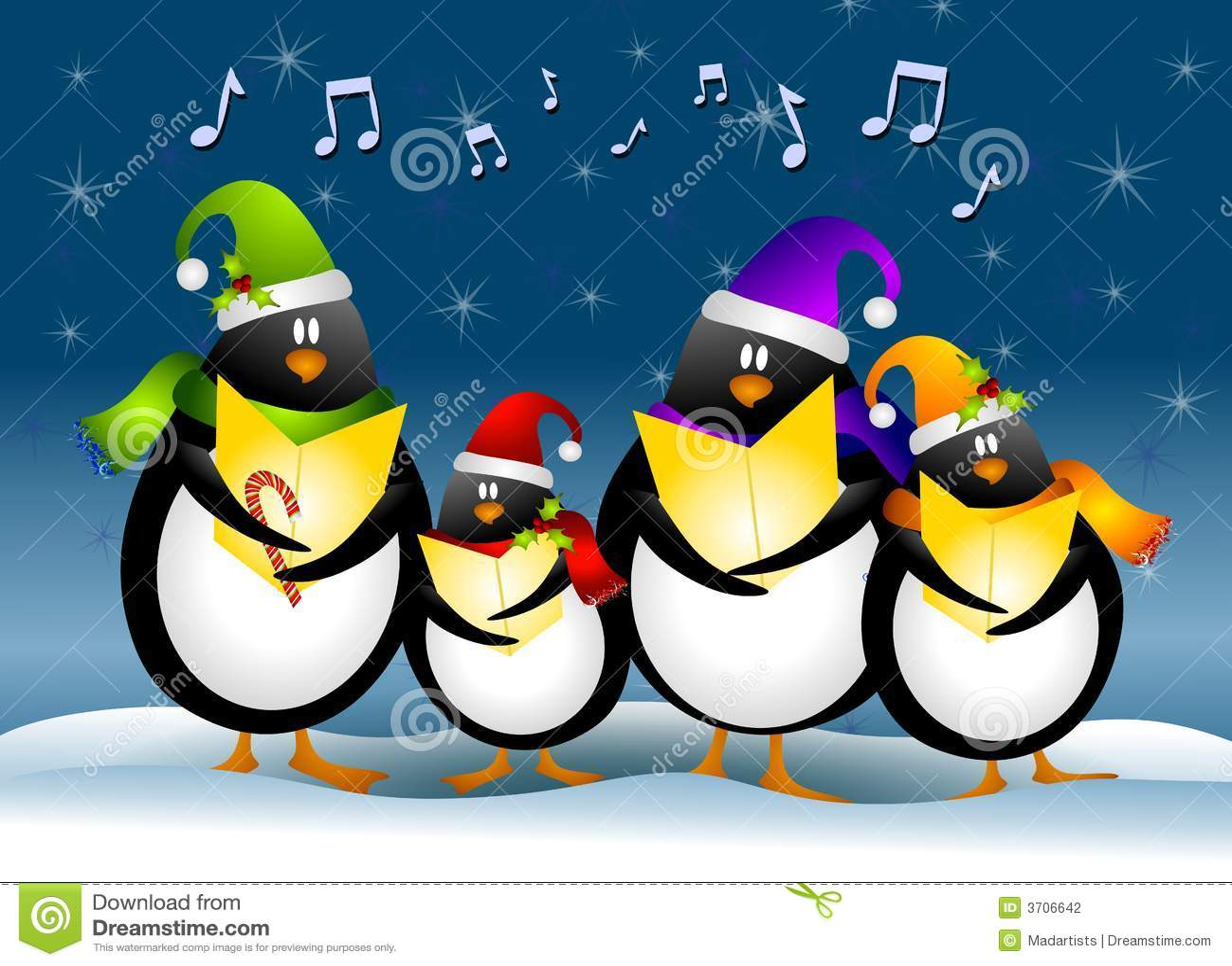 Gesang-WeihnachtsPinguine