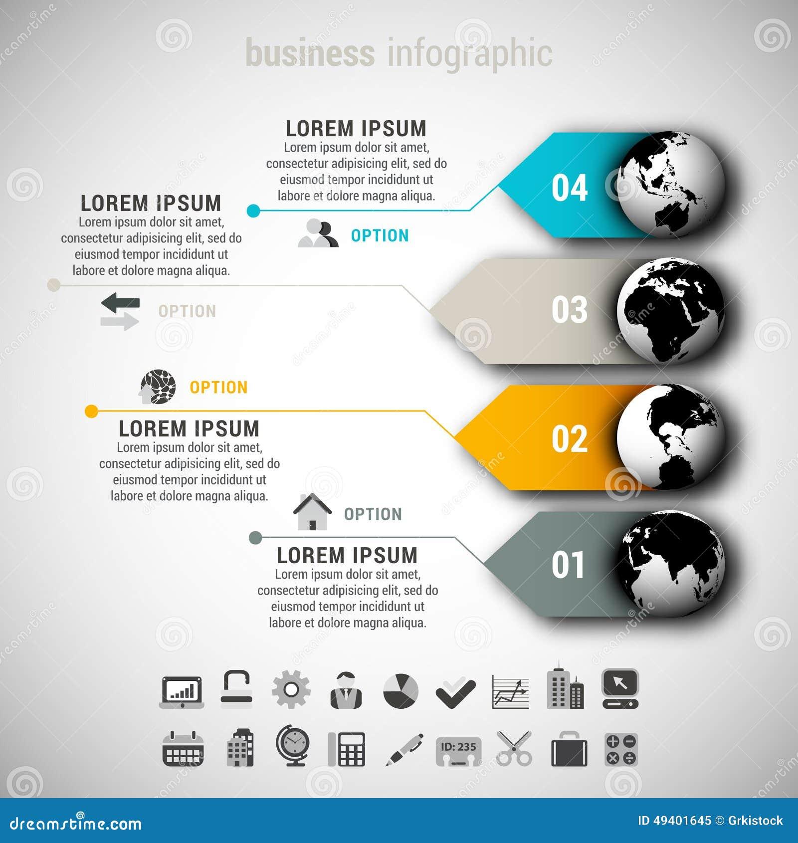 Download Geschäft Infographic vektor abbildung. Illustration von symbol - 49401645