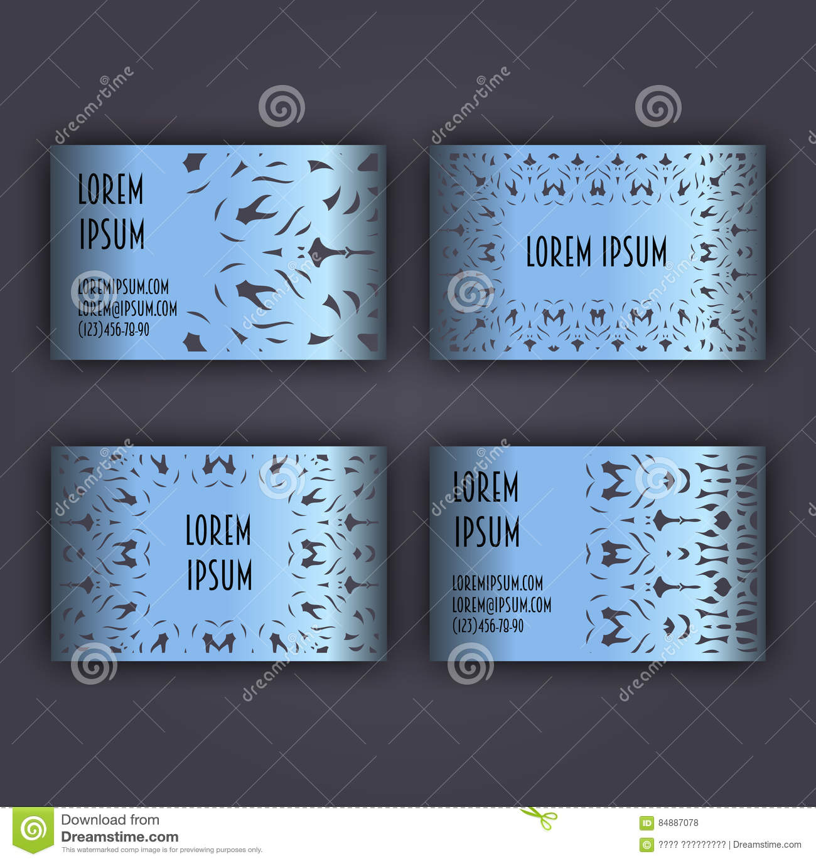 Geschäft Oder Visitenkarteschablone Mit Einem