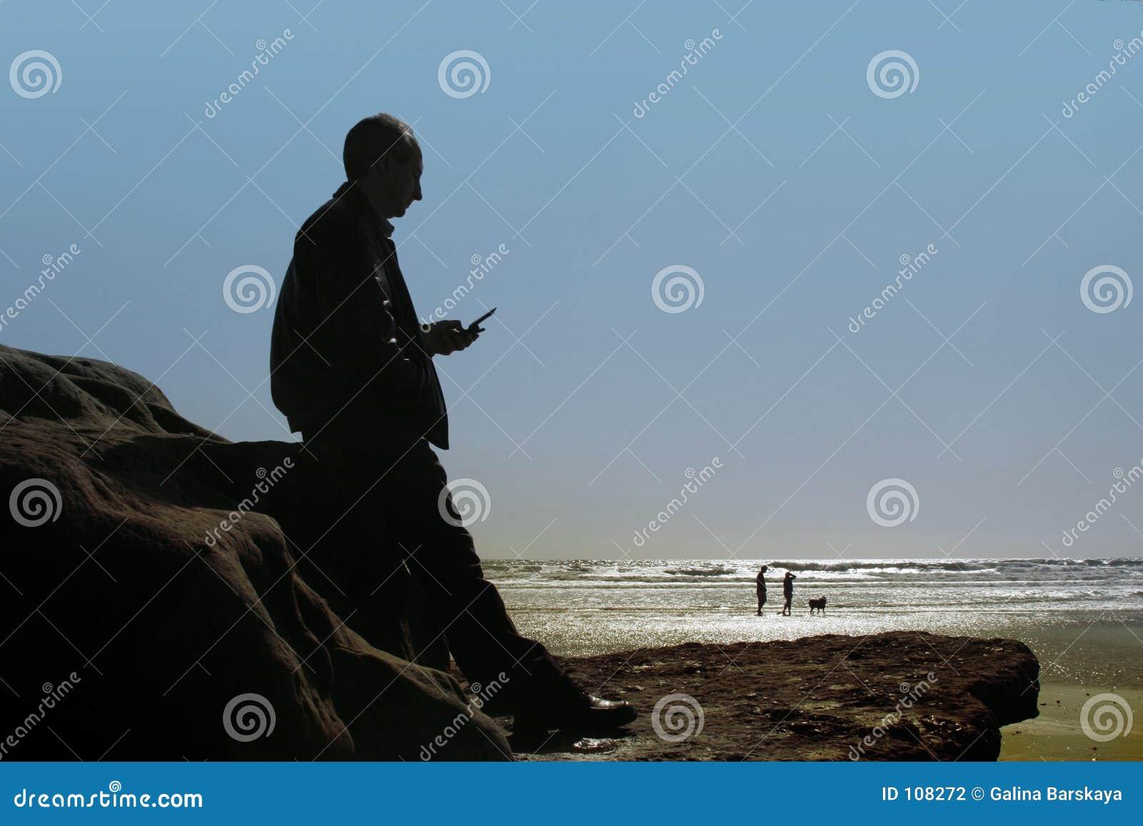 Geschäft am Strand