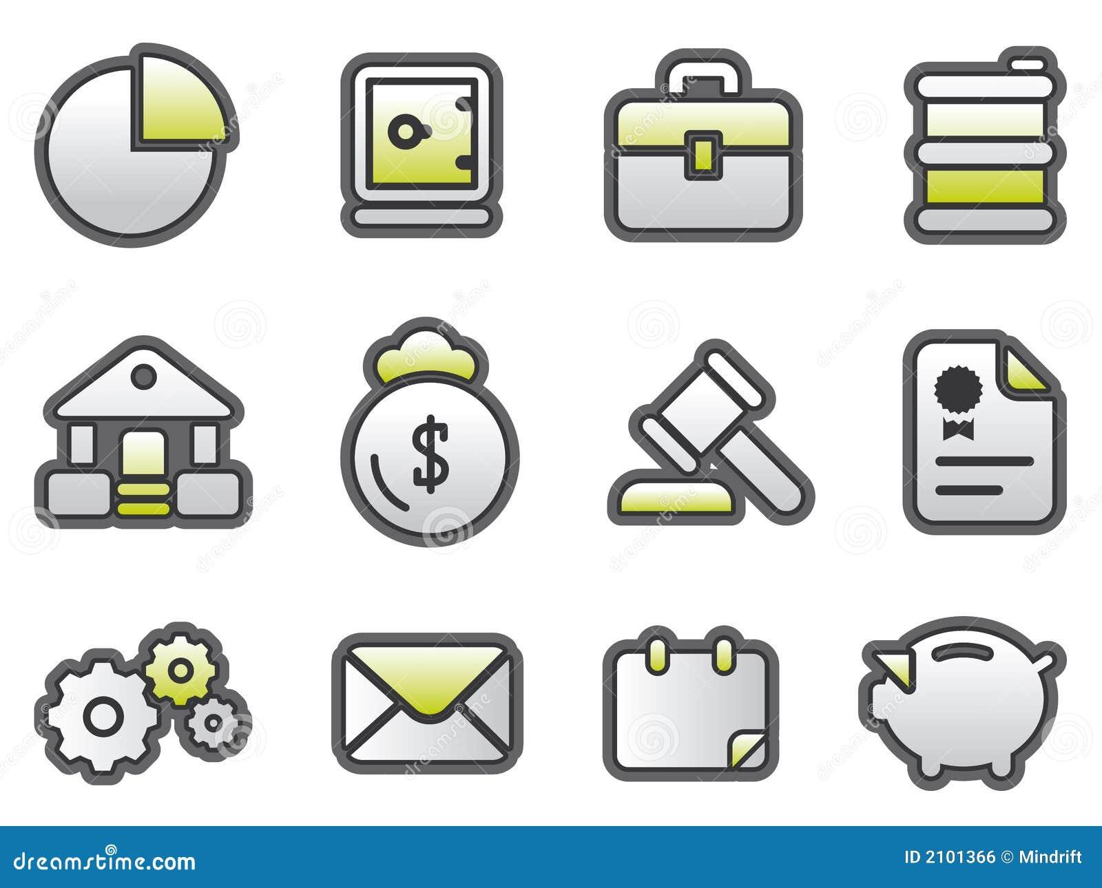 Geschäft u. FinanceButtons