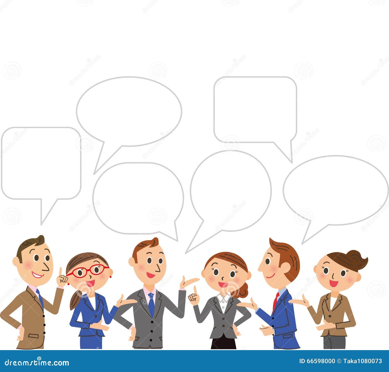 Geschäft und Gespräch