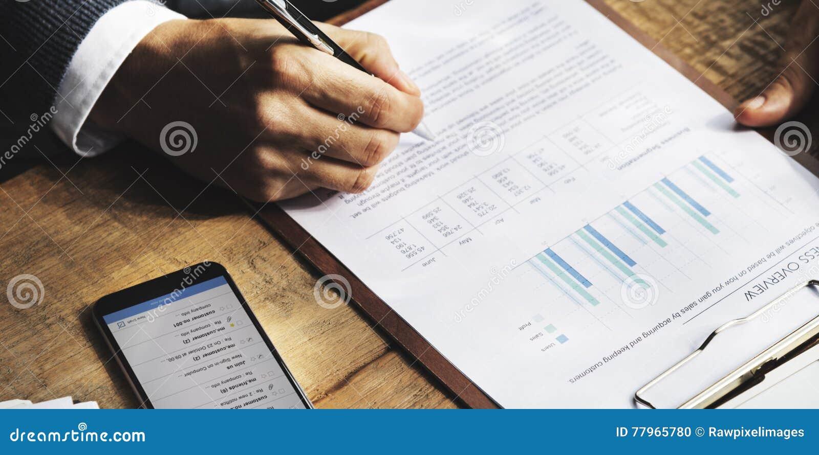 Geschäfts-Finanzierungs-Buchhaltungs-Bankwesen-Konzept