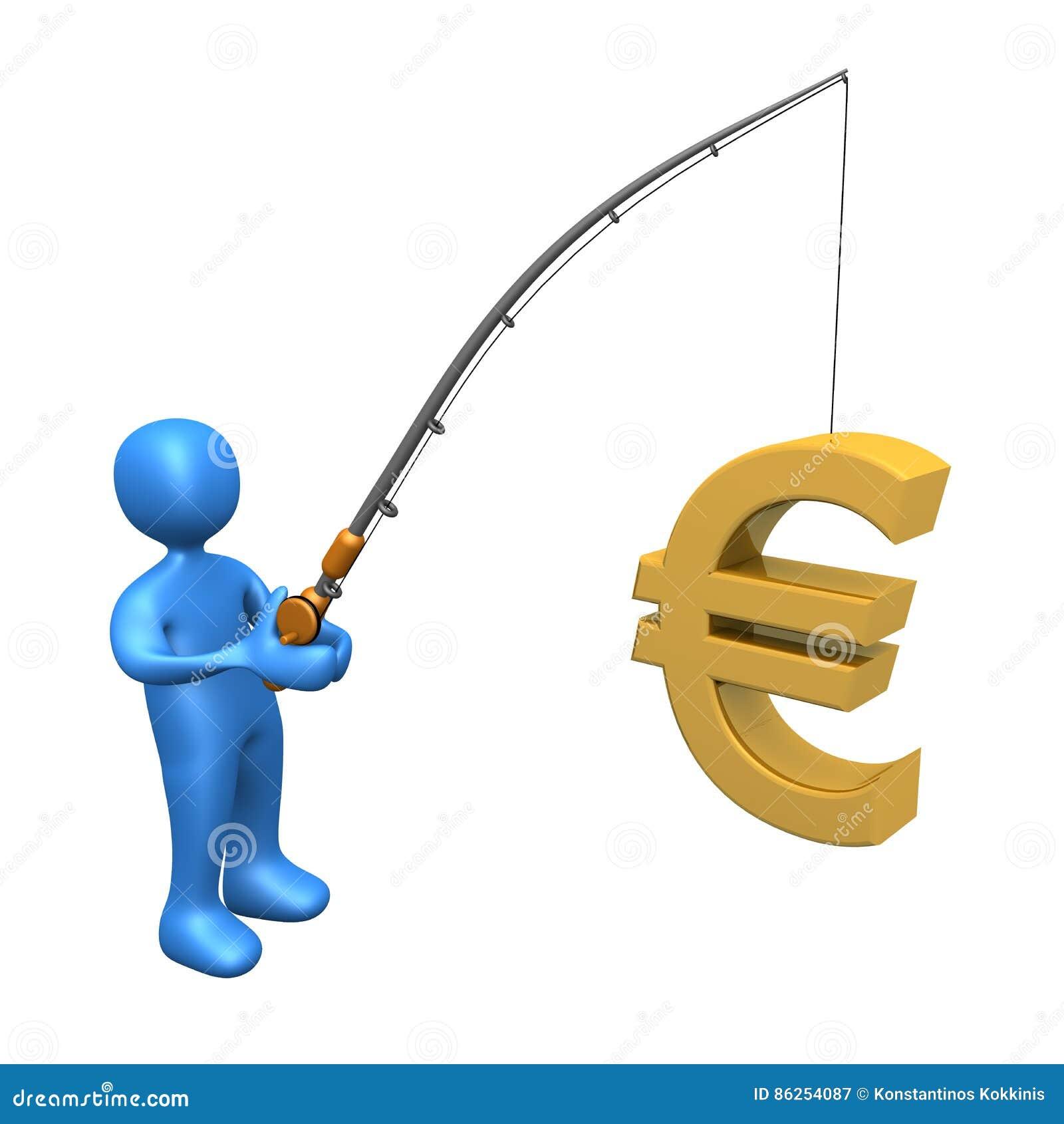 Geschäfts-Fischen - Euro