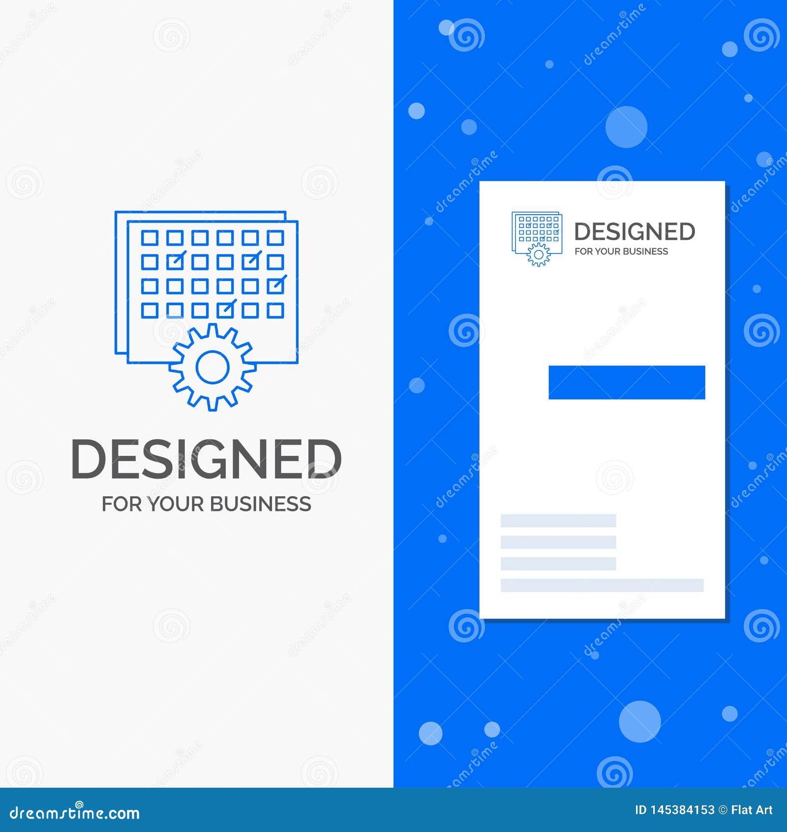 Geschäfts-Logo für Ereignis, Management, verarbeitend, Zeitplan, TIMING Vertikale blaue Gesch?fts-/Visitenkarteschablone