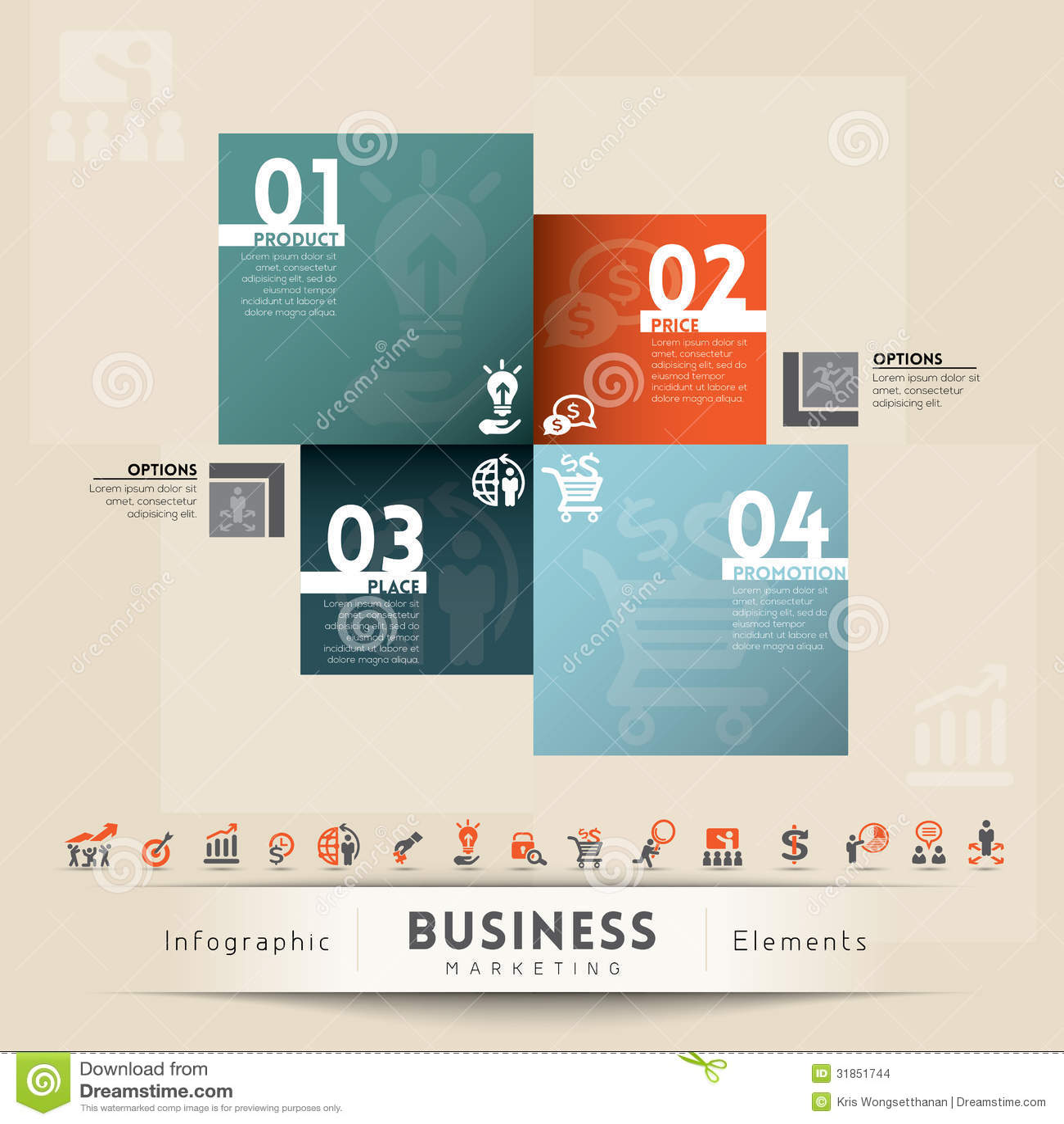 Geschäfts-Marketing-Konzept-Grafik-Element Vektor Abbildung ...
