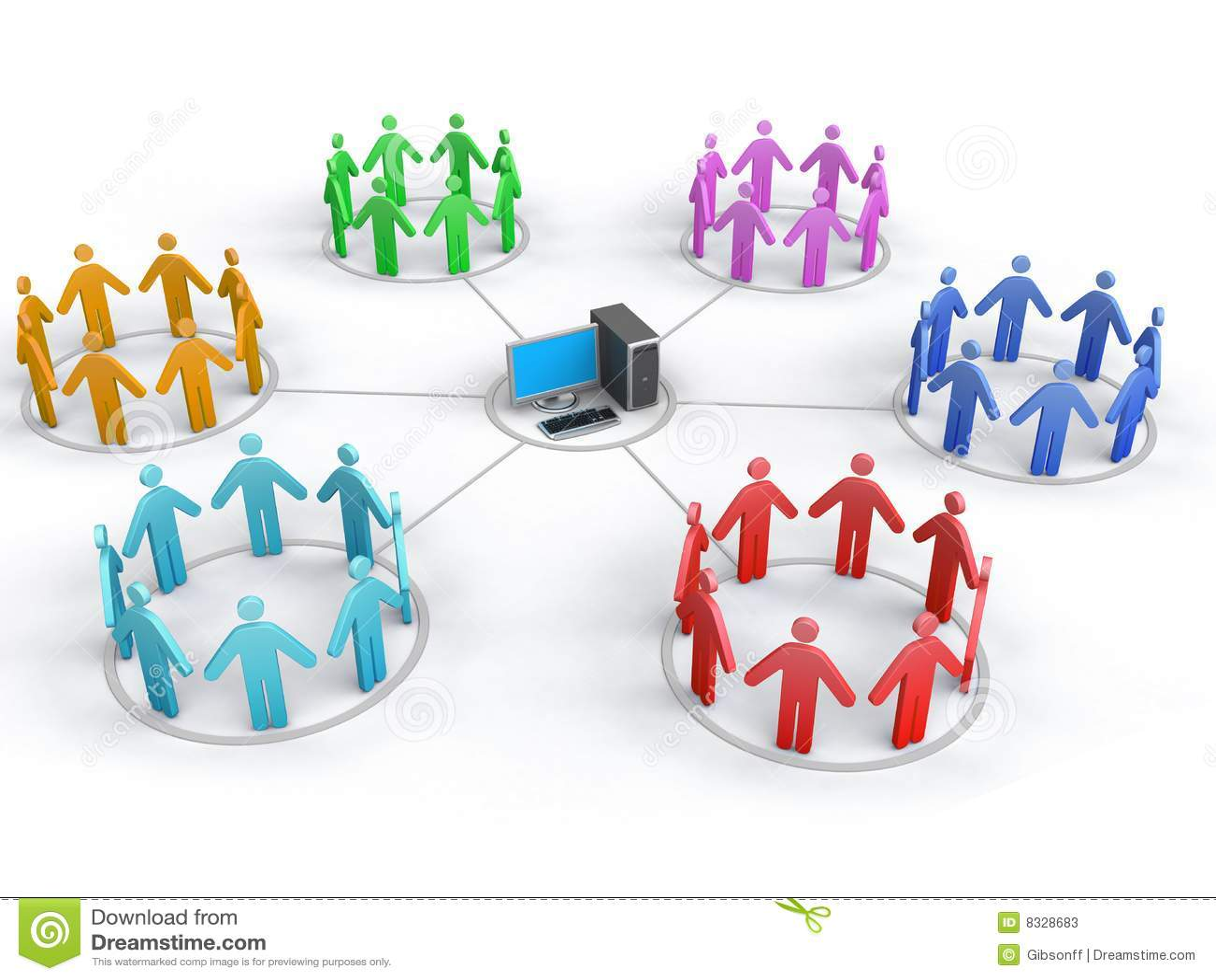 Geschäfts-Netz
