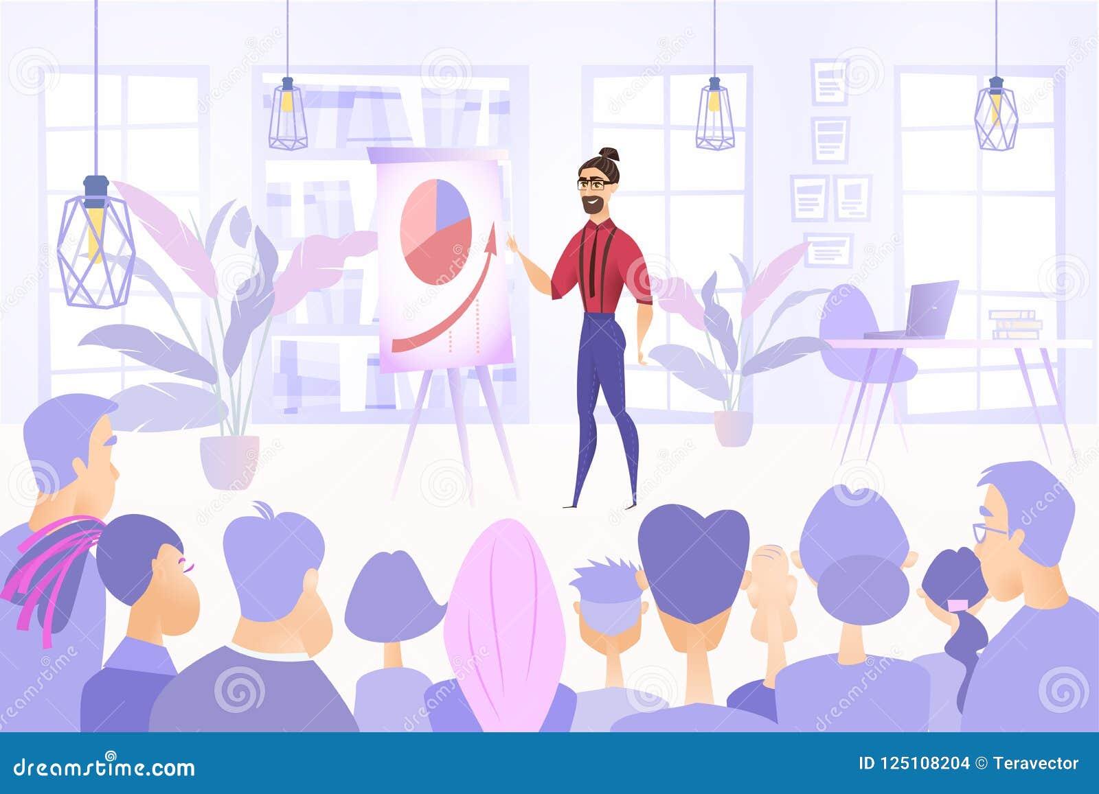 Geschäfts-Projekt-Darstellungs-Vektor-Konzept