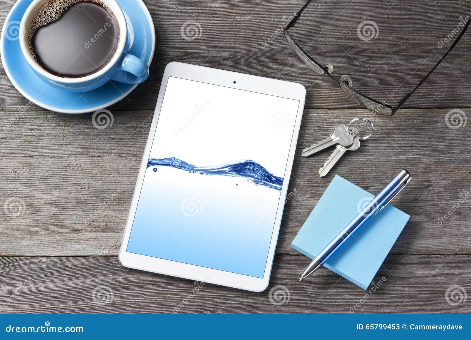 gesch fts tablet computer schreibtisch hintergrund stockfoto bild 65799453. Black Bedroom Furniture Sets. Home Design Ideas