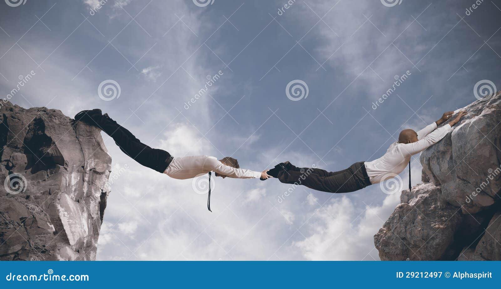 Geschäftsbrücke. Konzept der Partnerschaft