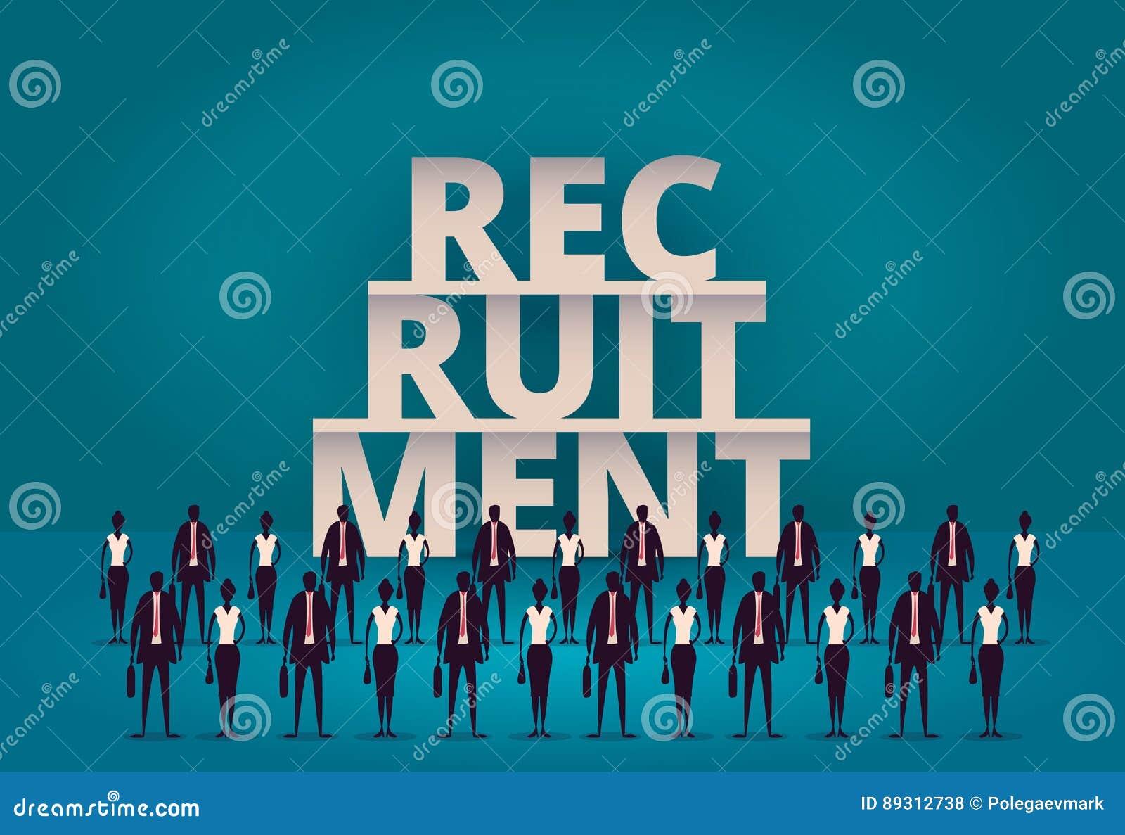 Geschäftseinstellungskonzept Stunden-Manager, der neuen Angestellten oder Arbeitskräfte für Job einstellt Rekrutierungspersonal o