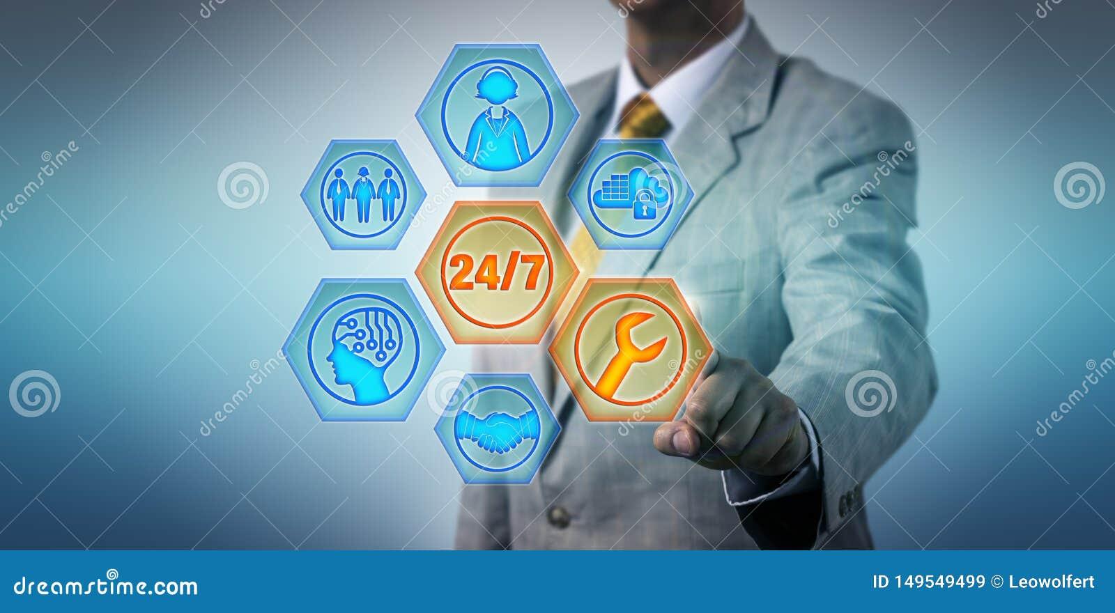 Geschäftsführer Activating 24/7 gehandhabte Dienstleistungen