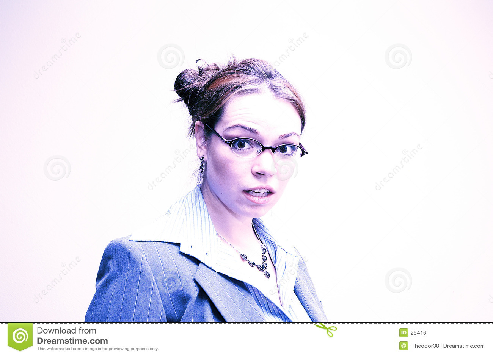 Geschäftsfrau überrascht