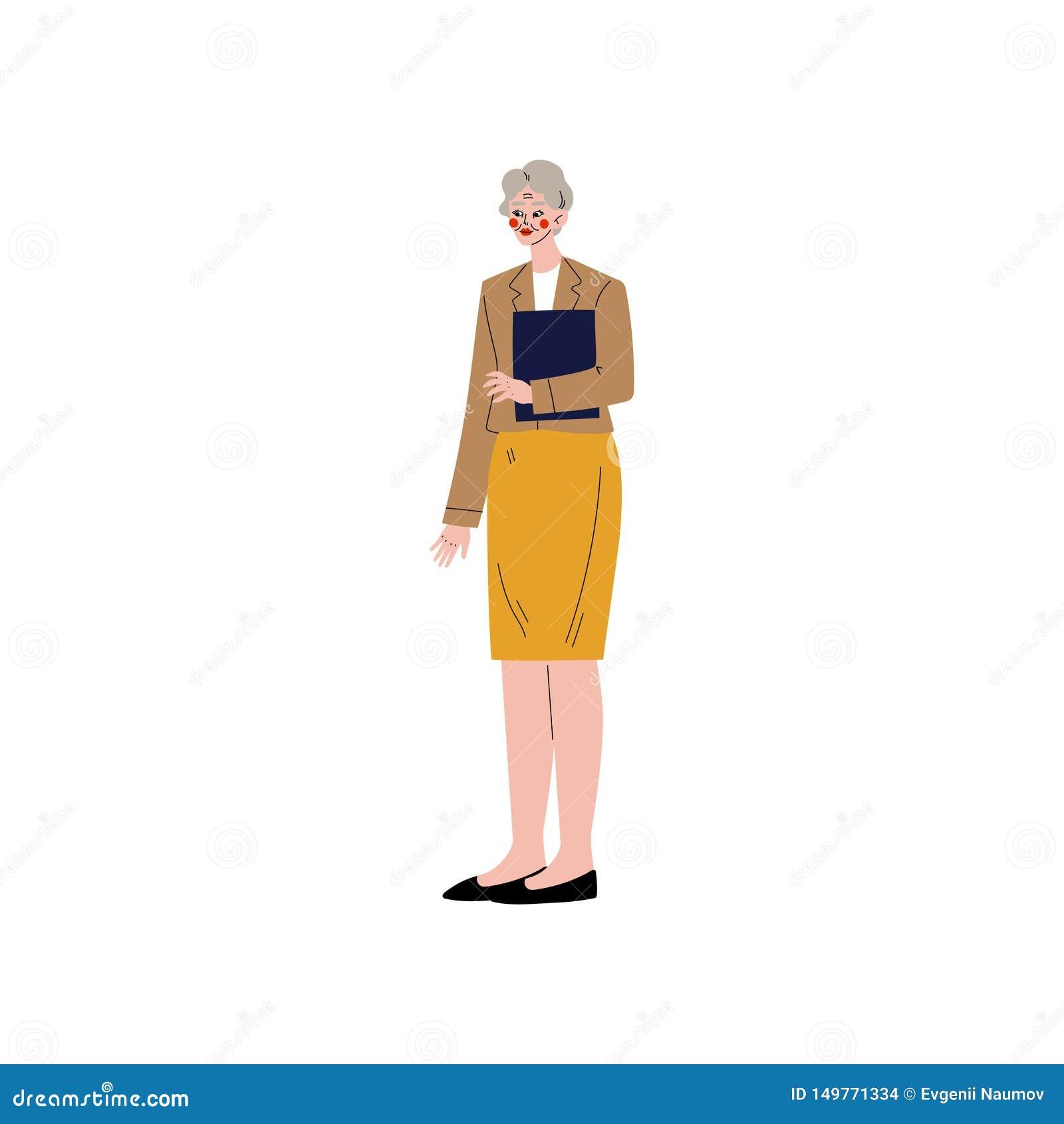 Geschäftsfrau, Büroangestellter, Unternehmer oder Manager Character Vector Illustration