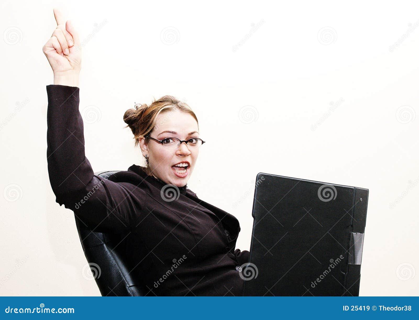 Geschäftsfrau glücklich