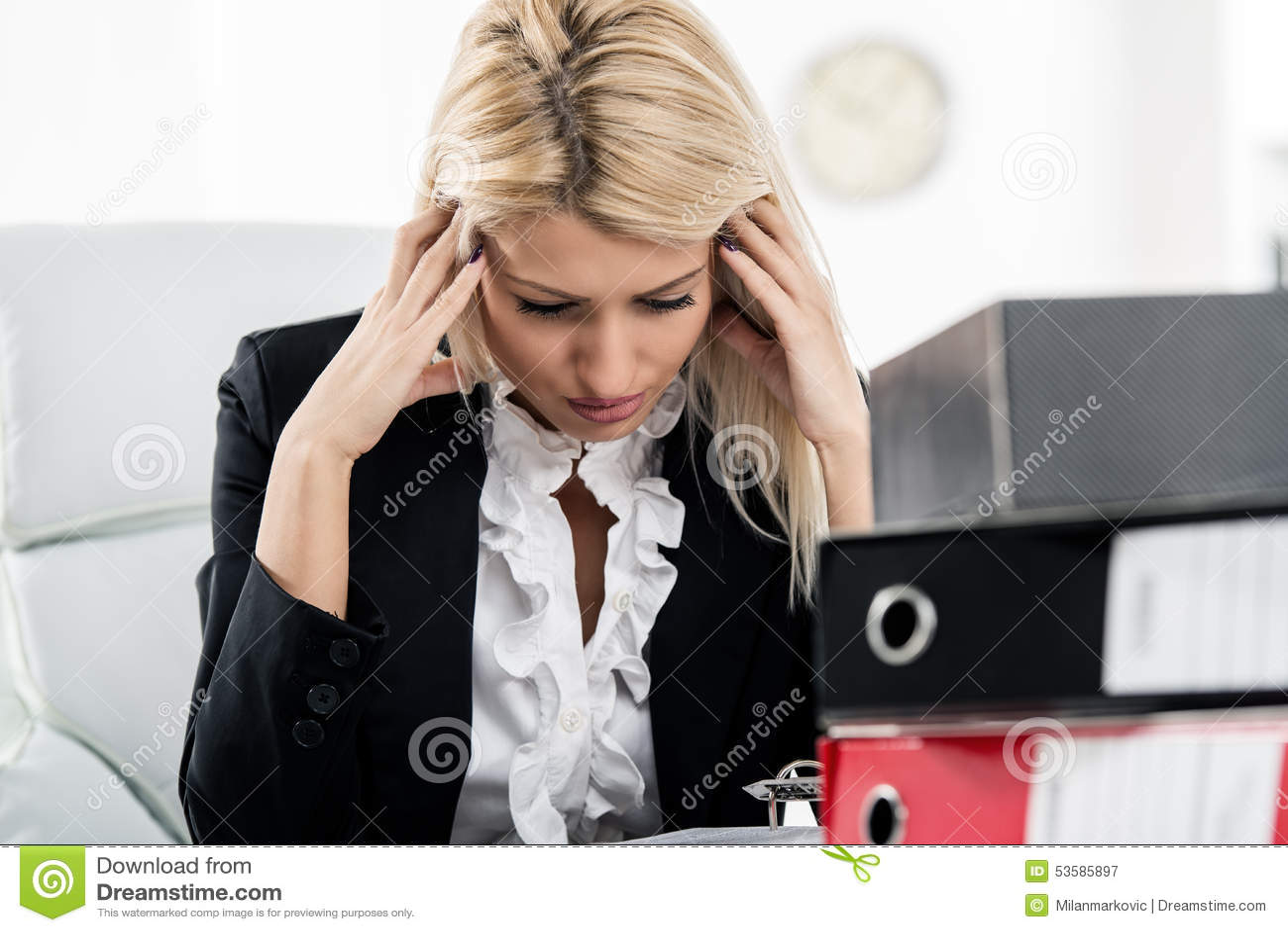 Geschäftsfrau Headache