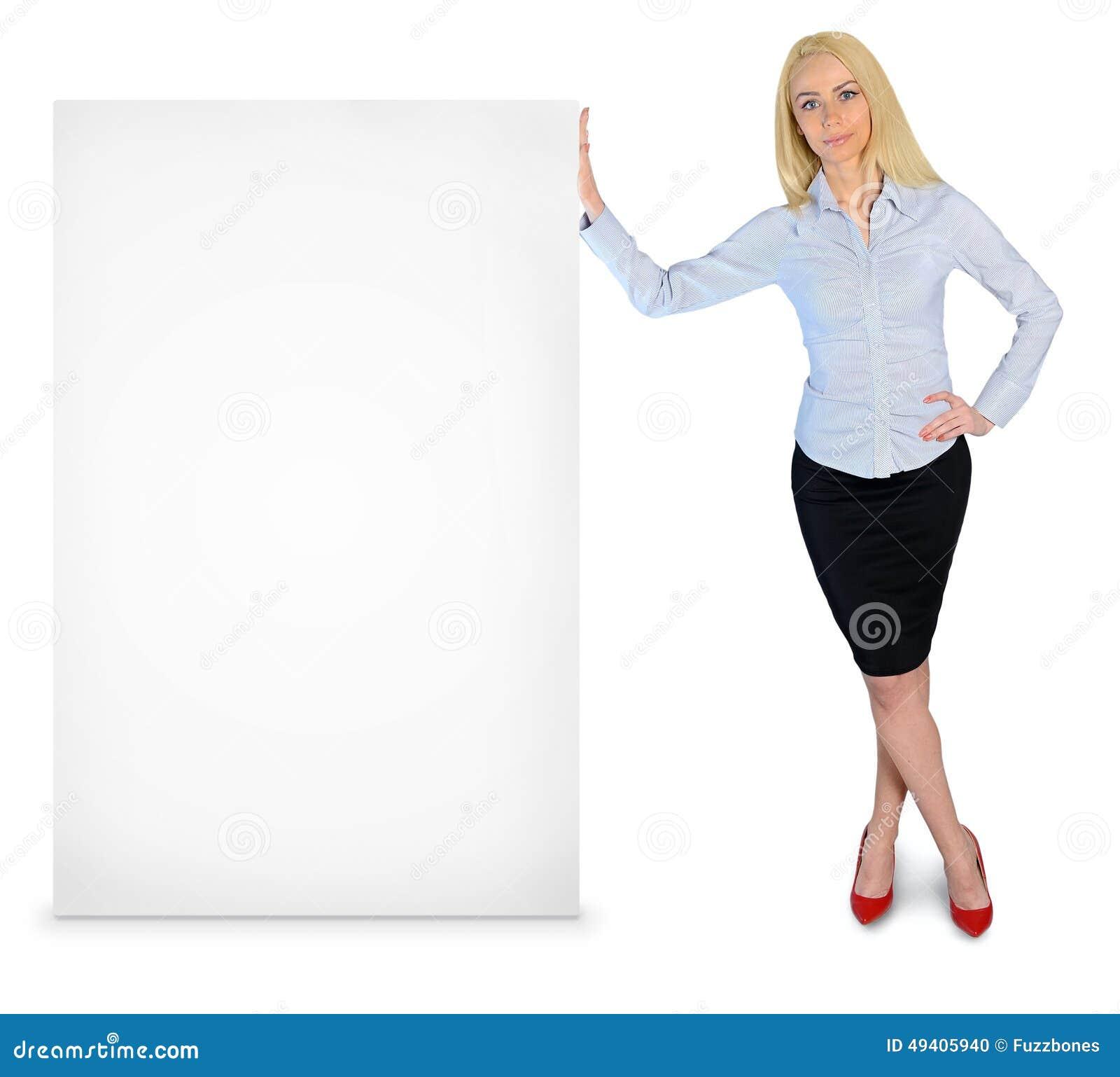 Download Geschäftsfrau Mit Leerer Fahne Stockfoto - Bild von mann, überzeugt: 49405940