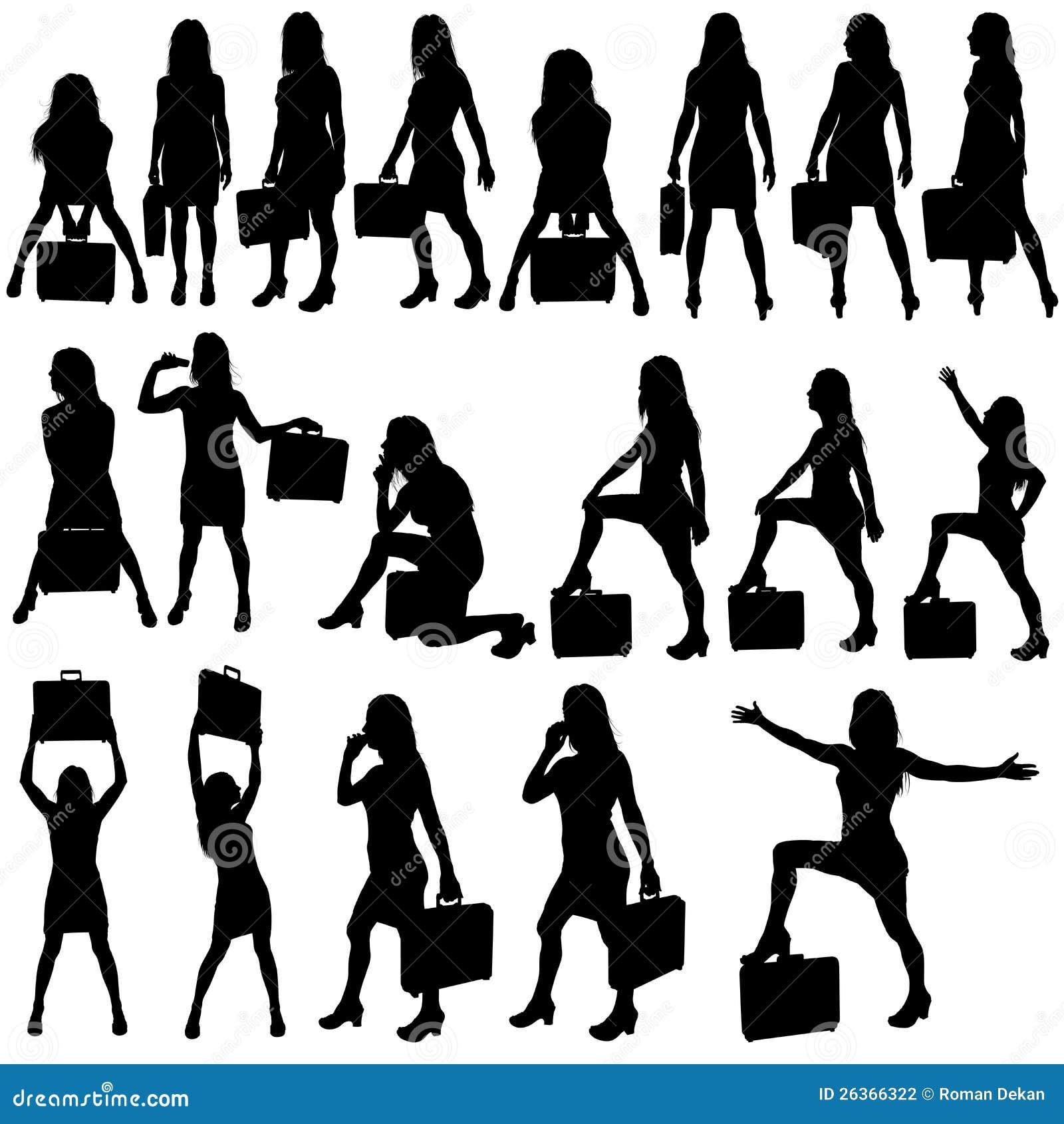 Geschäftsfrau-Schattenbilder