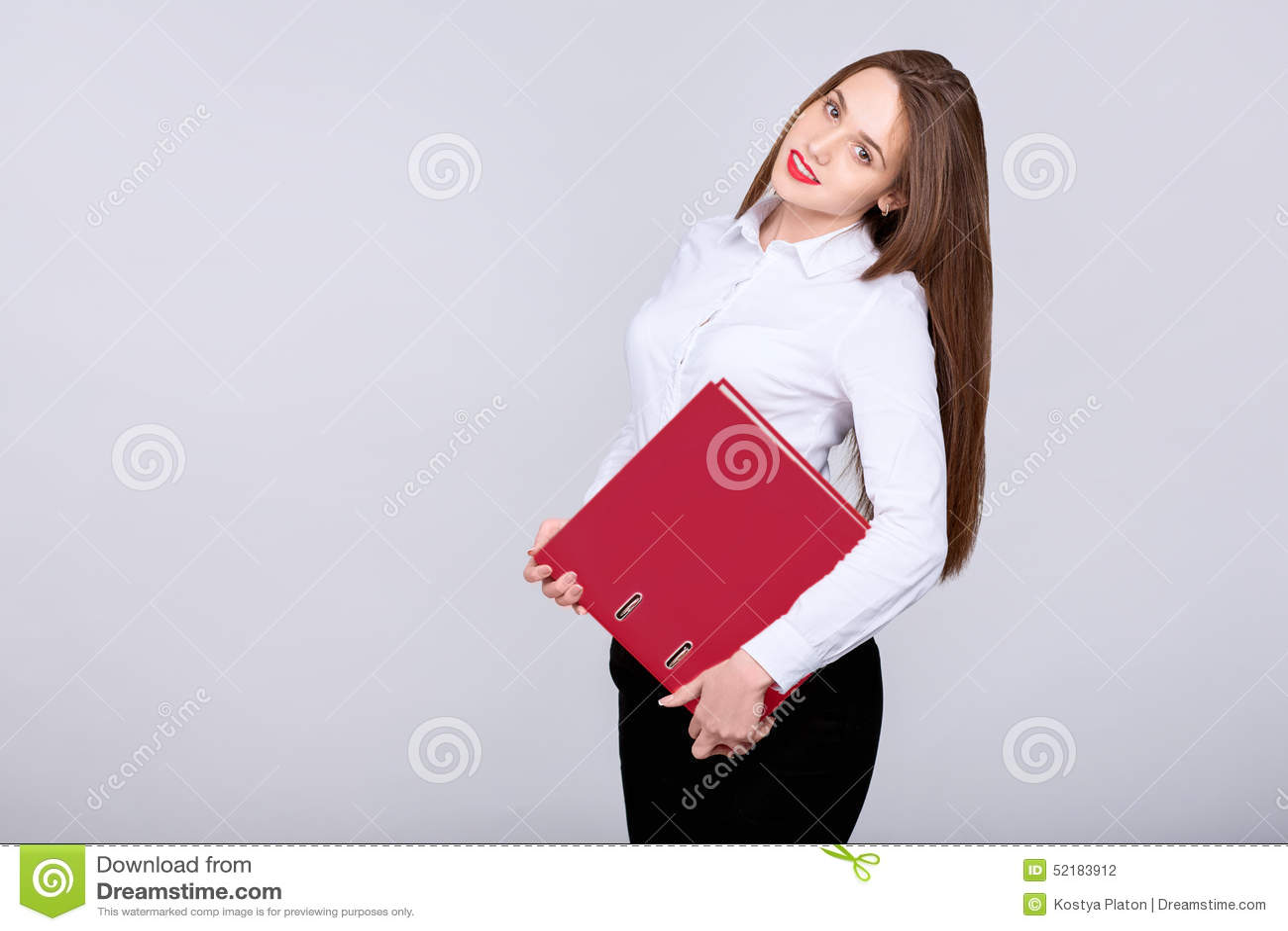Geschäftsfraulächeln