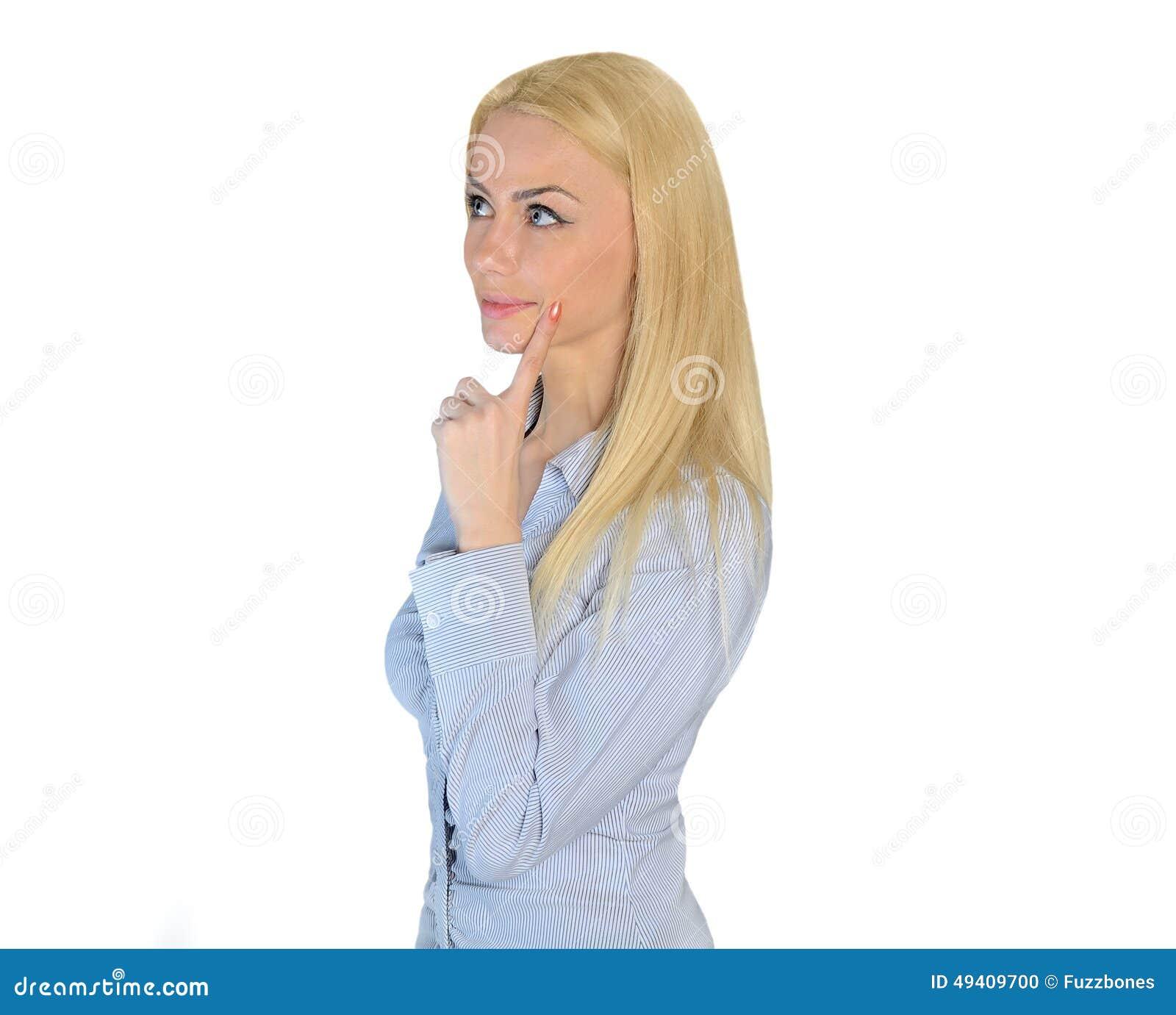 Download Geschäftsfrauträumen stockfoto. Bild von betrachtung - 49409700