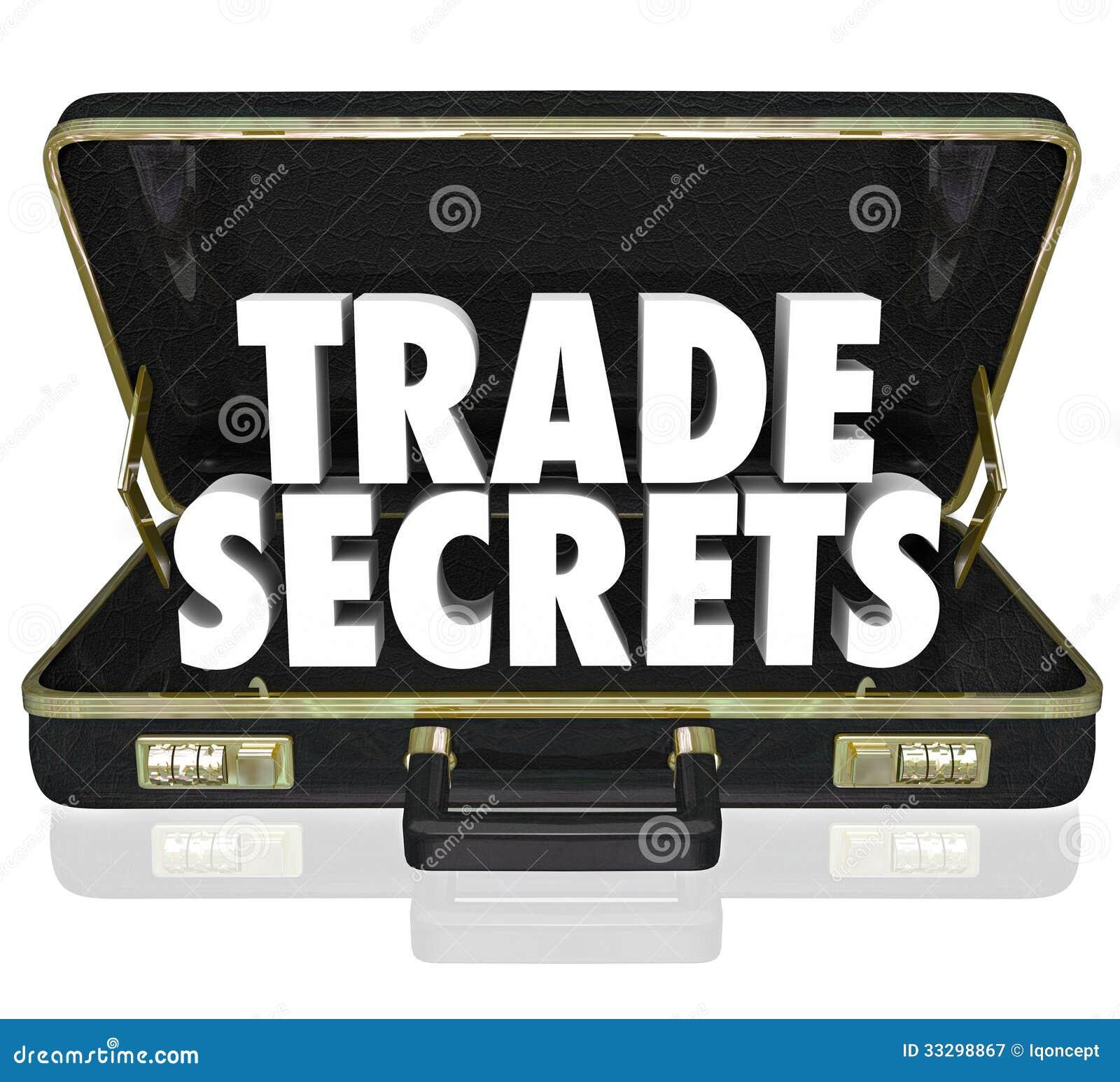 Geschäftsgeheimnis-Aktenkoffer-Geschäfts-eigene Informationen Intelle