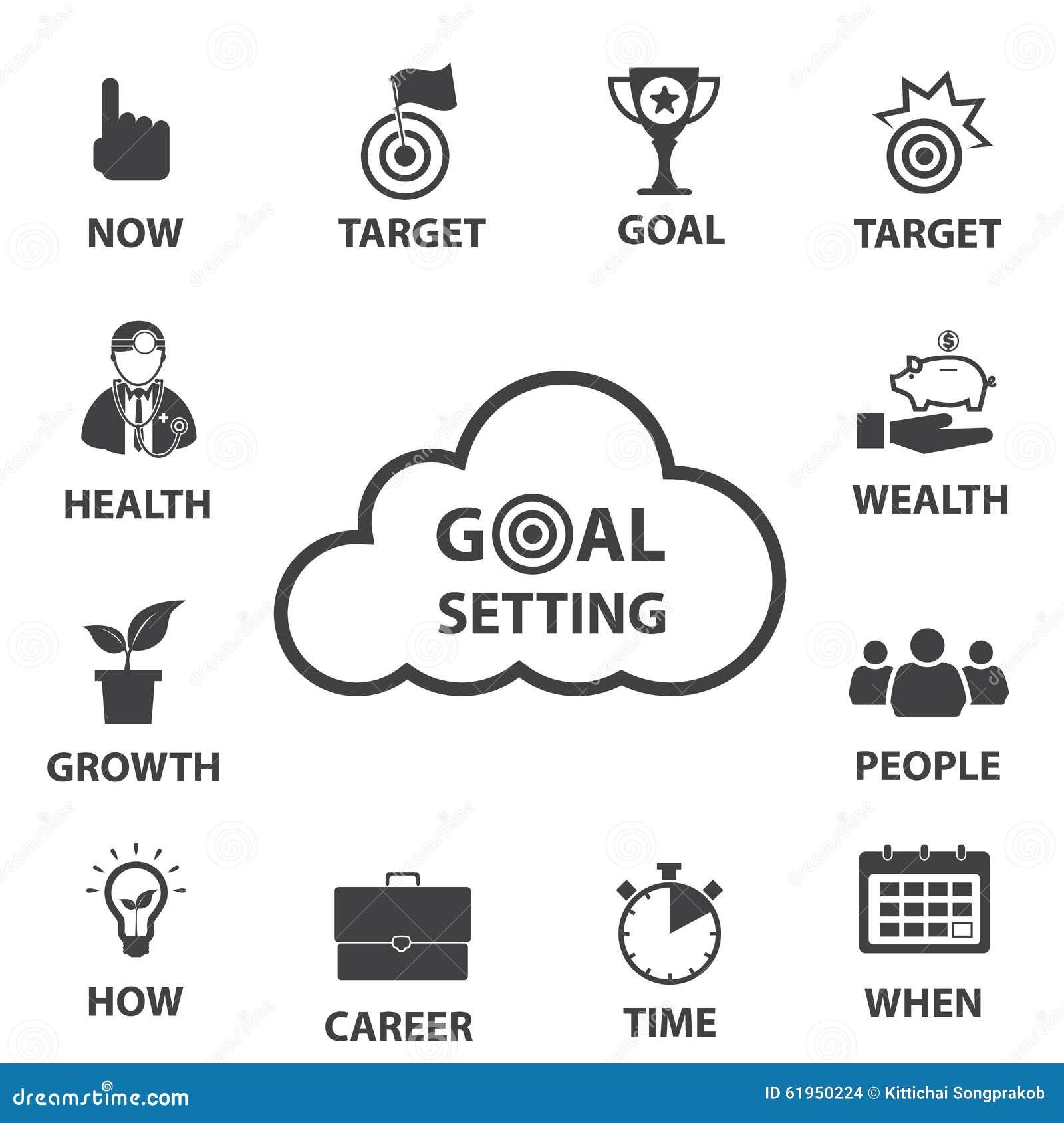Geschäftsikonensatz, intelligente Zielsetzung
