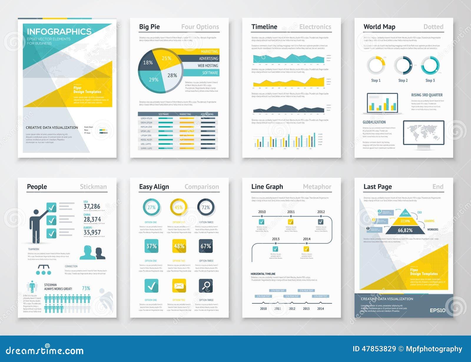 Geschäftsinformationsgraphiken vector Elemente für Unternehmensbroschüren