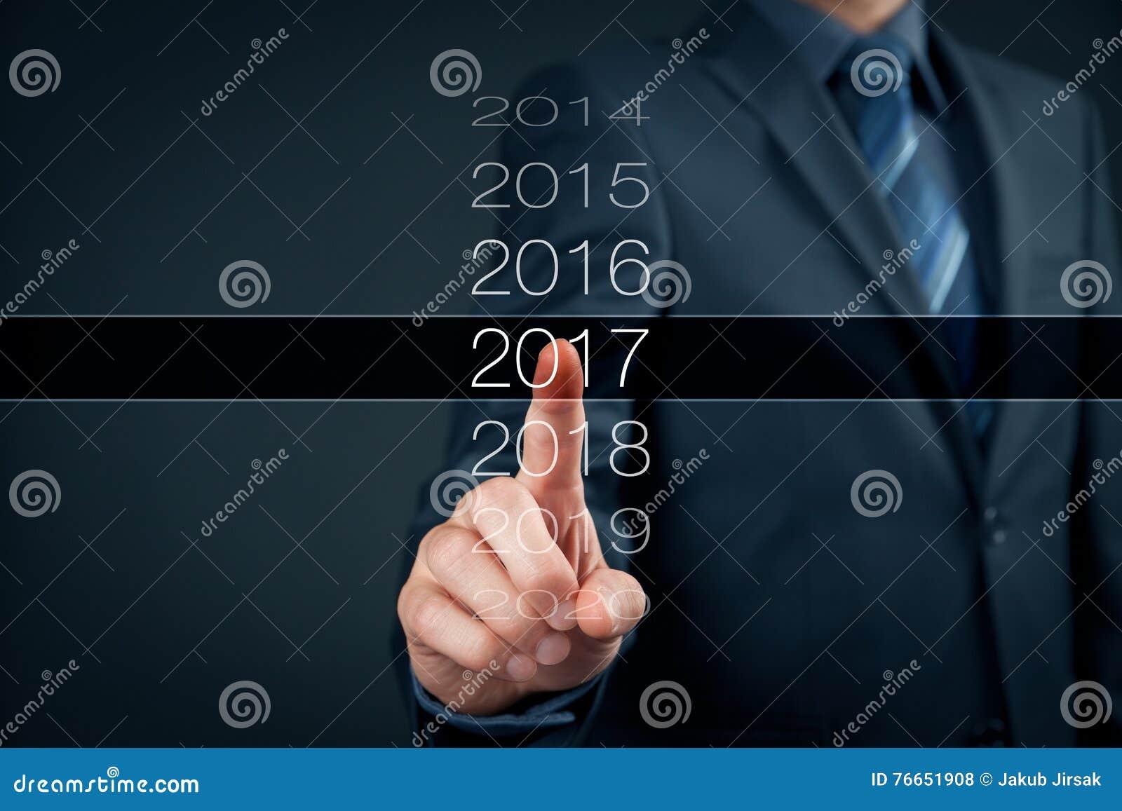Geschäftsjahr 2017 stockfoto. Bild von gruß, kalender - 76651908
