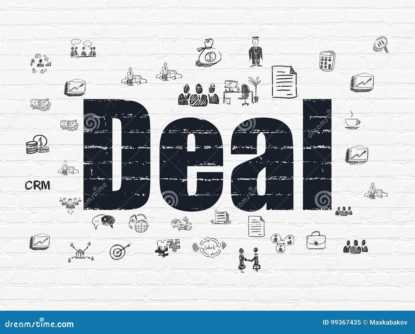 Geschäftskonzept: Abkommen auf Wandhintergrund