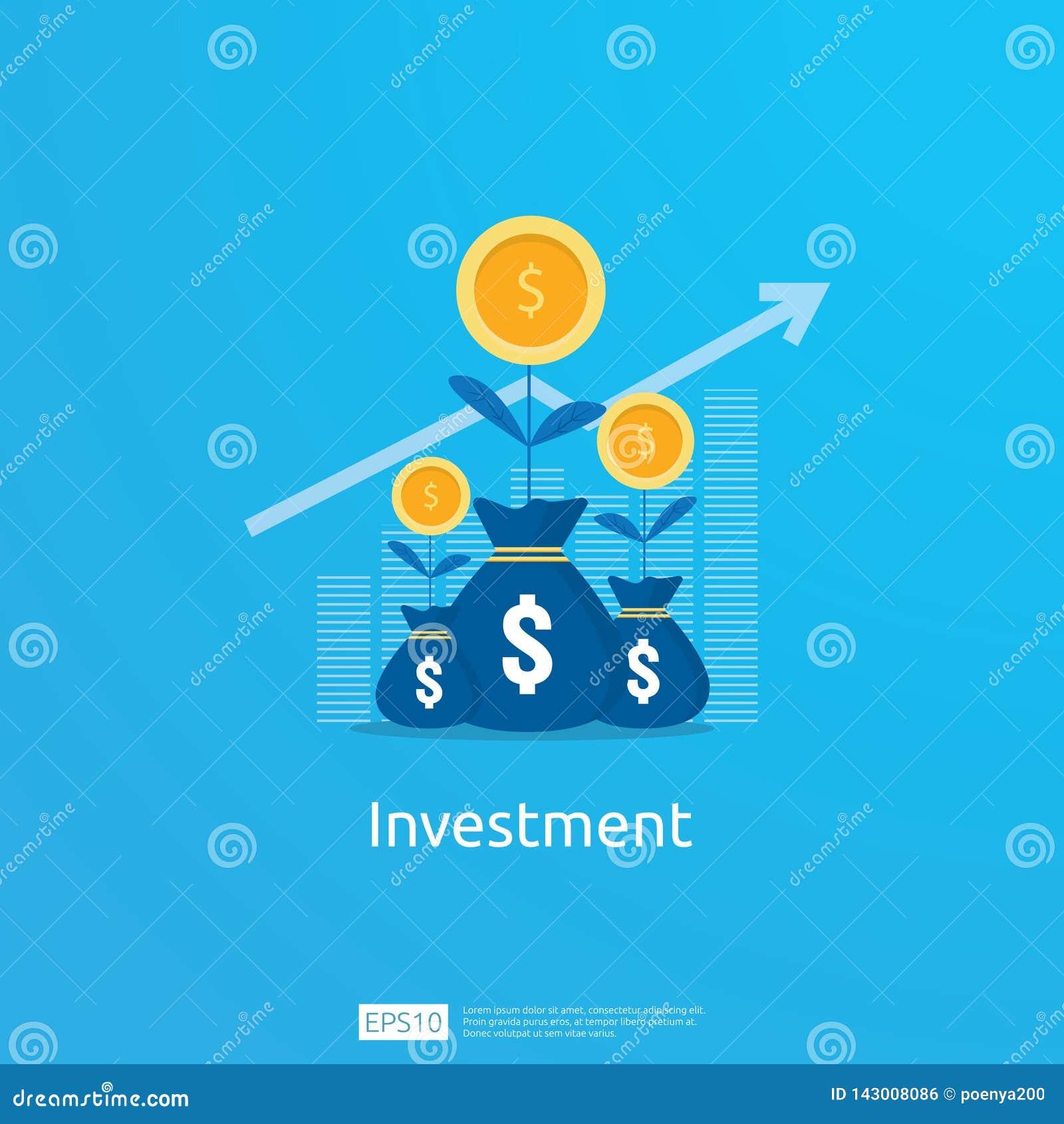 Geschäftskonzept des Leistungsziels Anlagenrendite ROI-Vision Wachstumspfeile zum Erfolg Diagrammdiagramm-Zunahmegewinn mit