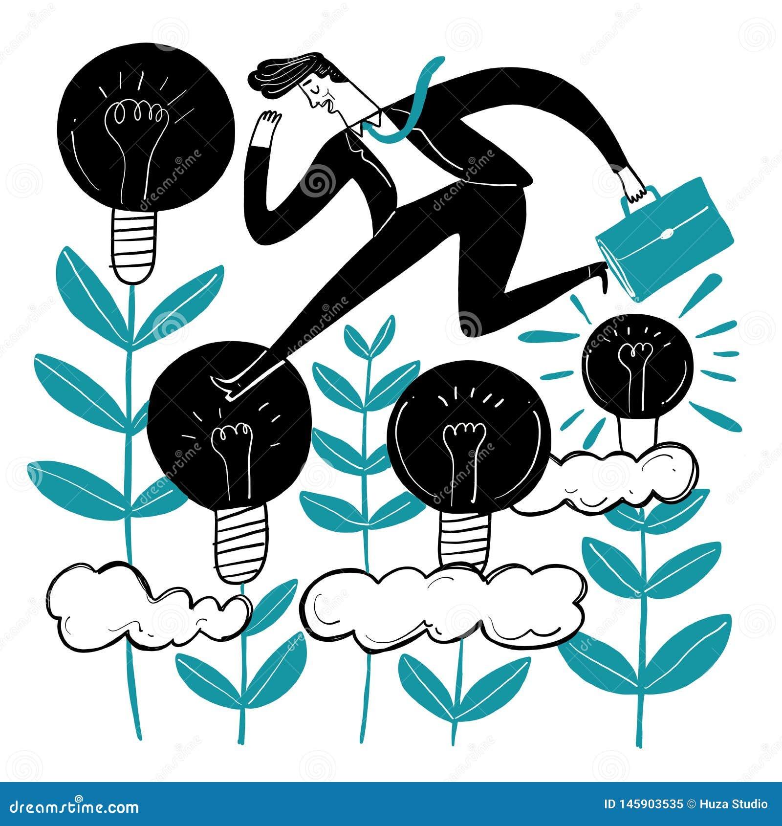 Geschäftsleute, die kreativ sind
